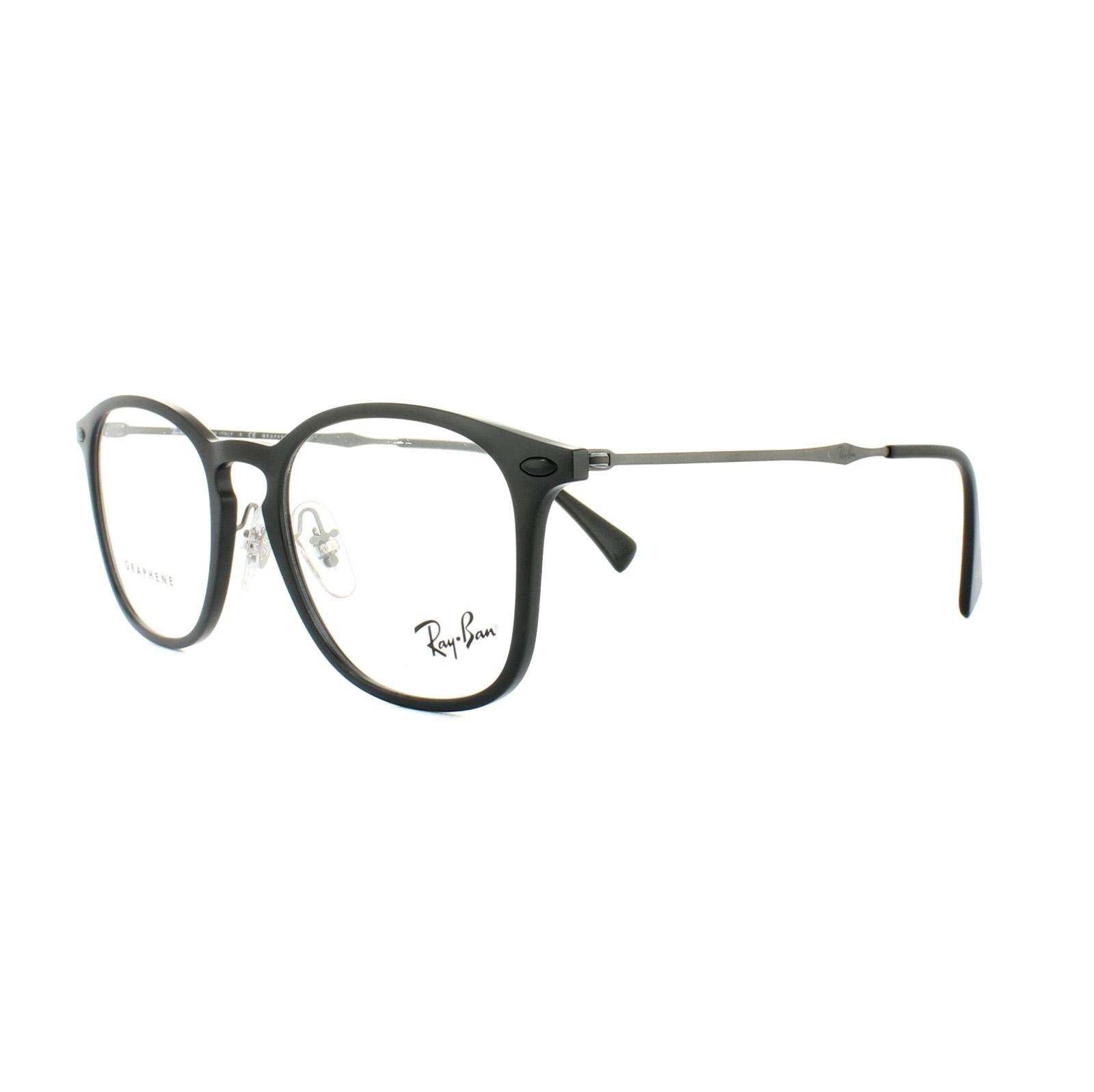 53185eaac0 Sentinel Ray-Ban Glasses Frames RX 8954 8025 Black Graphene Mens 50mm