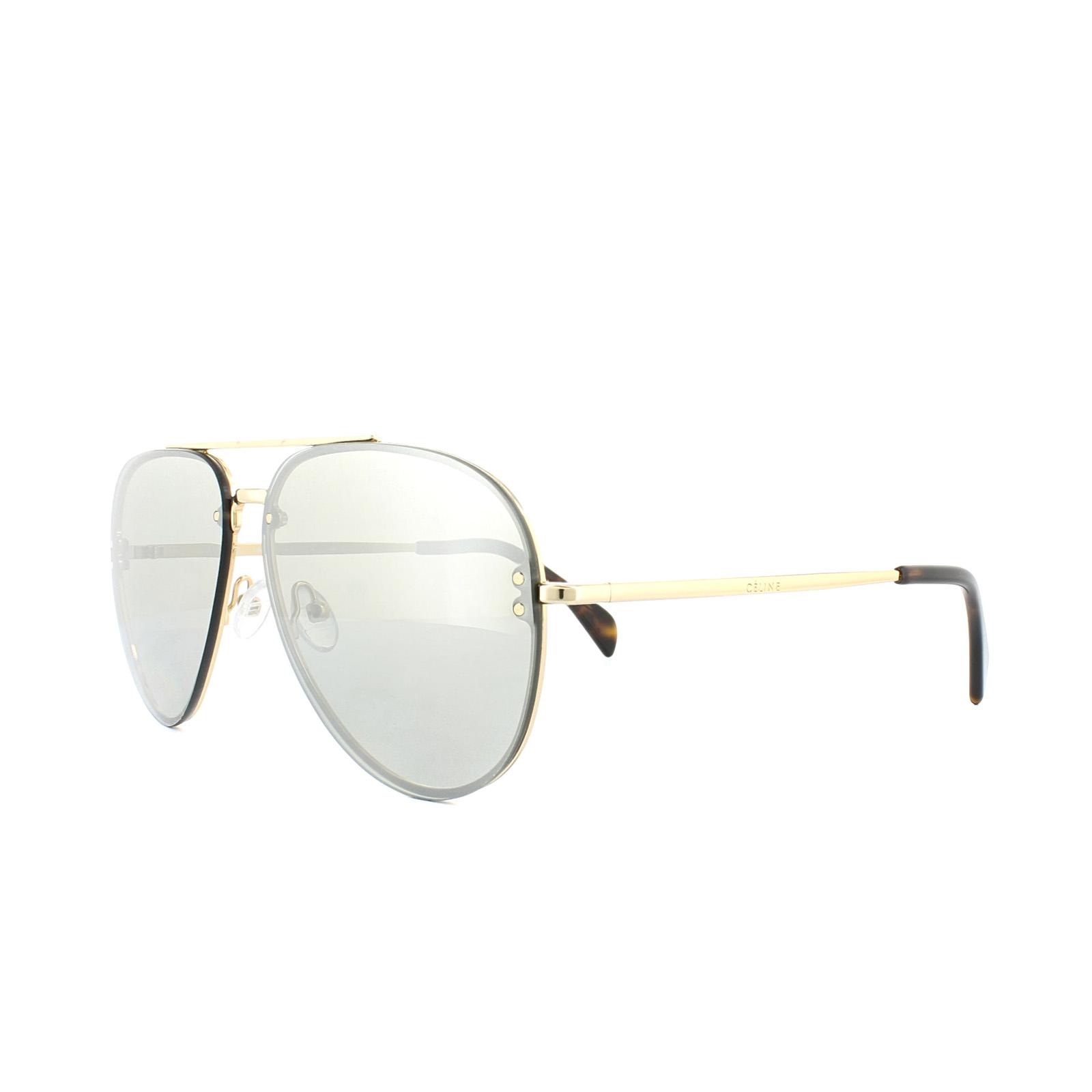 6f443ba1823 Sentinel Celine Sunglasses 41391 S Mirror J5G SS Gold Grey Silver Mirror