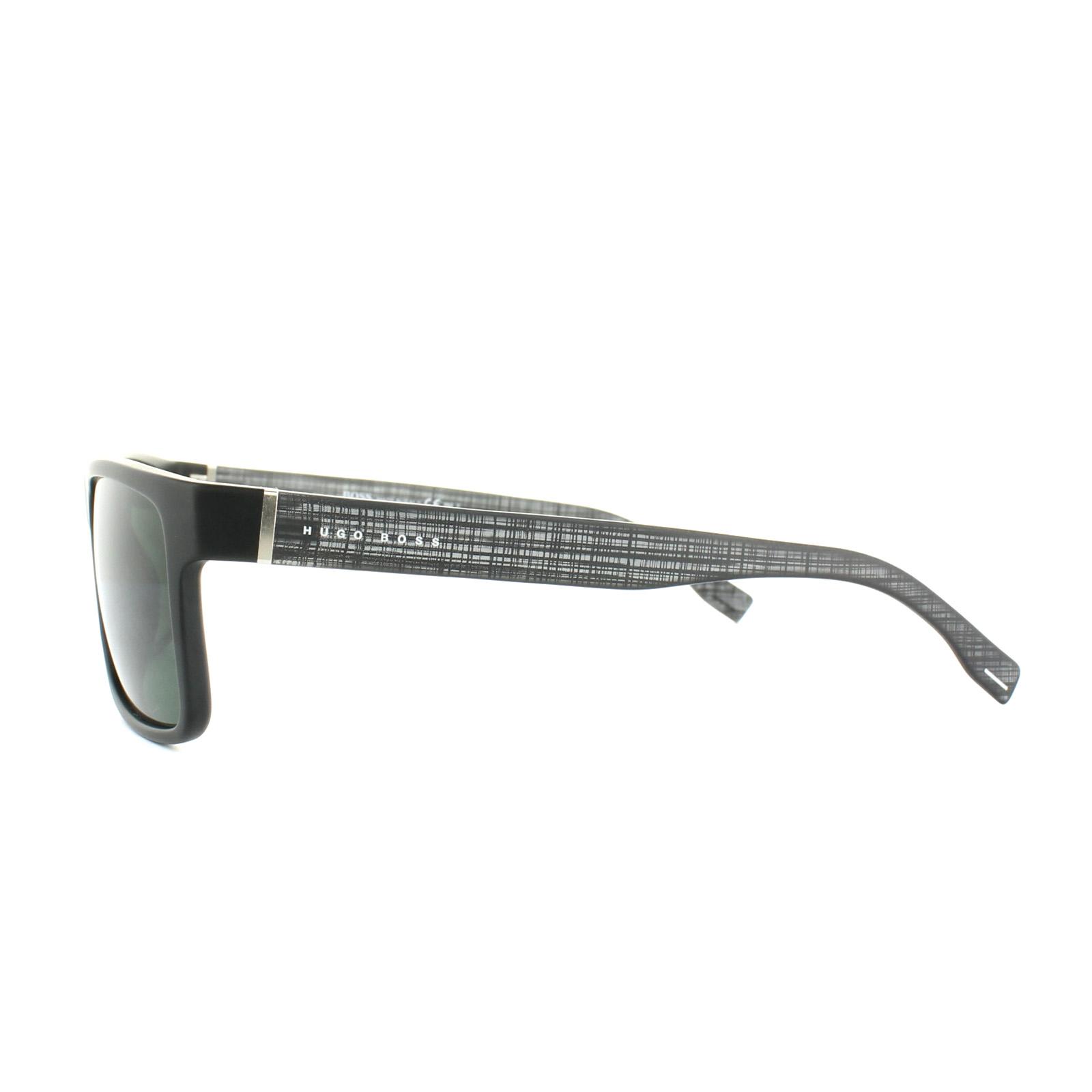 724fde4022773 Hugo Boss Sunglasses 0768 QNX 85 Black Grey Green 762753593160