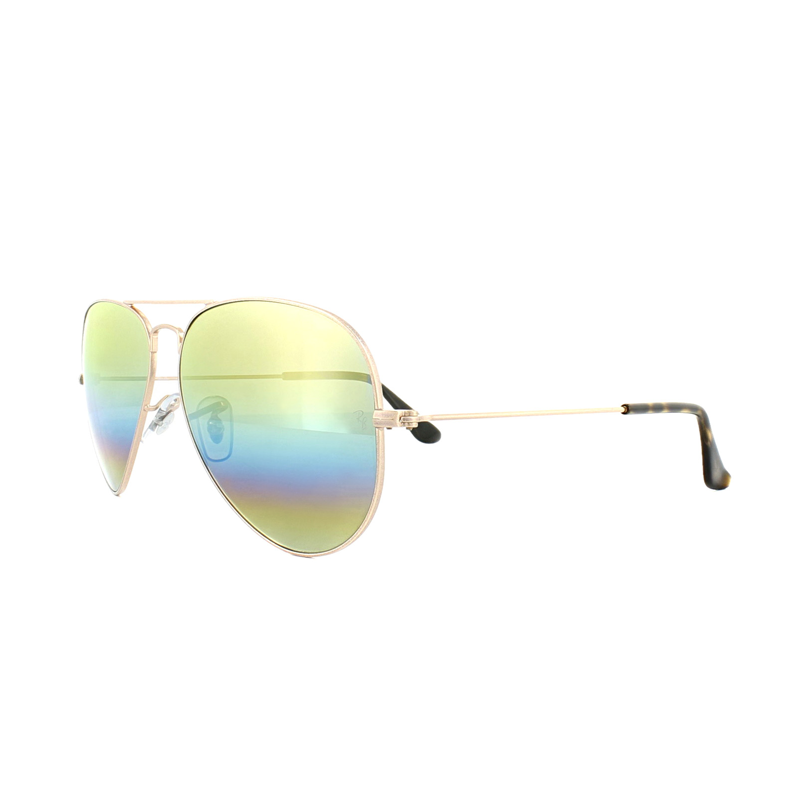 69c02122ab Sentinel Ray-Ban Sunglasses Aviator Mineral Flash 3025 9020C4 Bronze Copper  Gold Rainbow