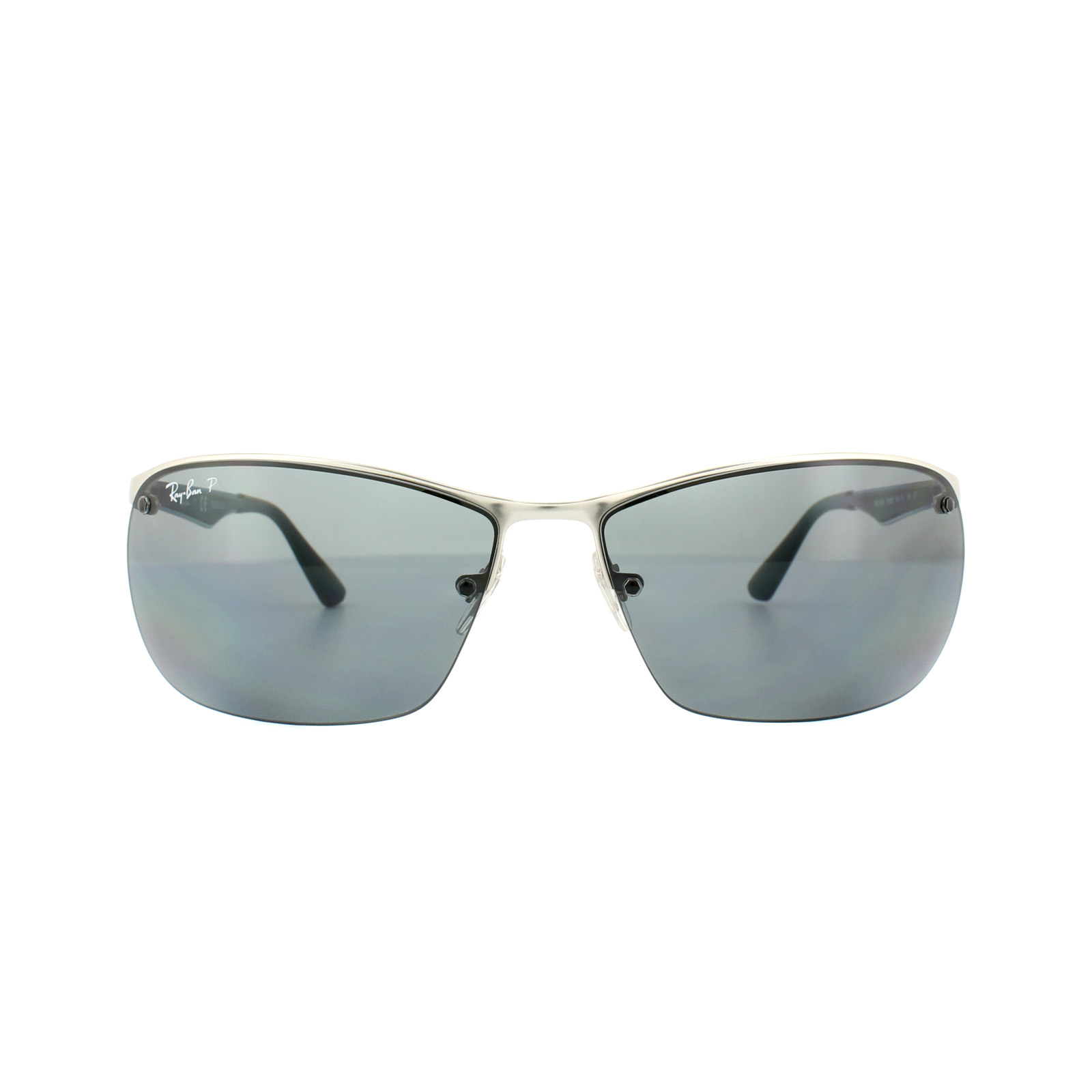 1f60f55092f Sentinel Ray-Ban Sunglasses 3550 019 81 Silver Grey Gradient Polarized