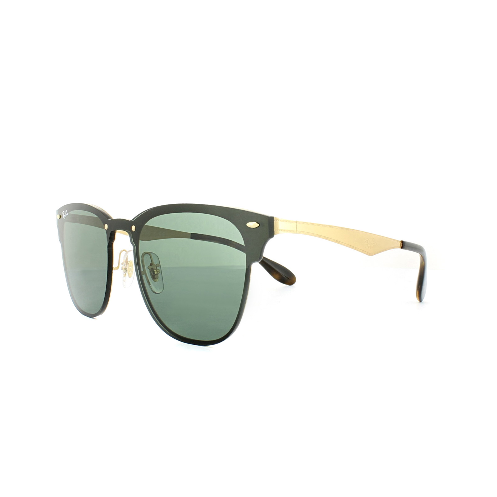 519c7d365c02a Sentinel Ray-Ban Sunglasses Blaze Clubmaster 3576N 043 71 Gold Green