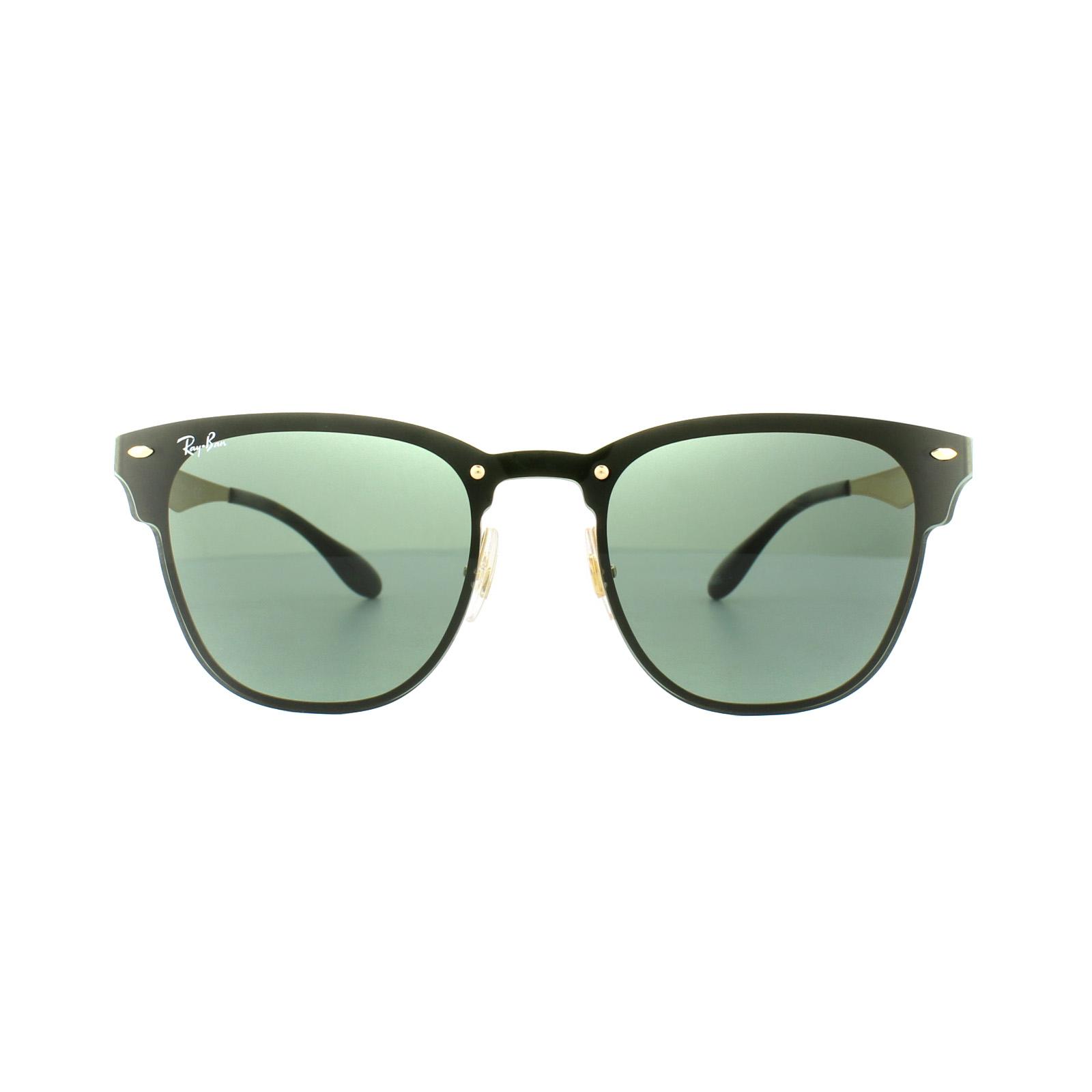 a856ae90f73c4 Sentinel Ray-Ban Sunglasses Blaze Clubmaster 3576N 043 71 Gold Green