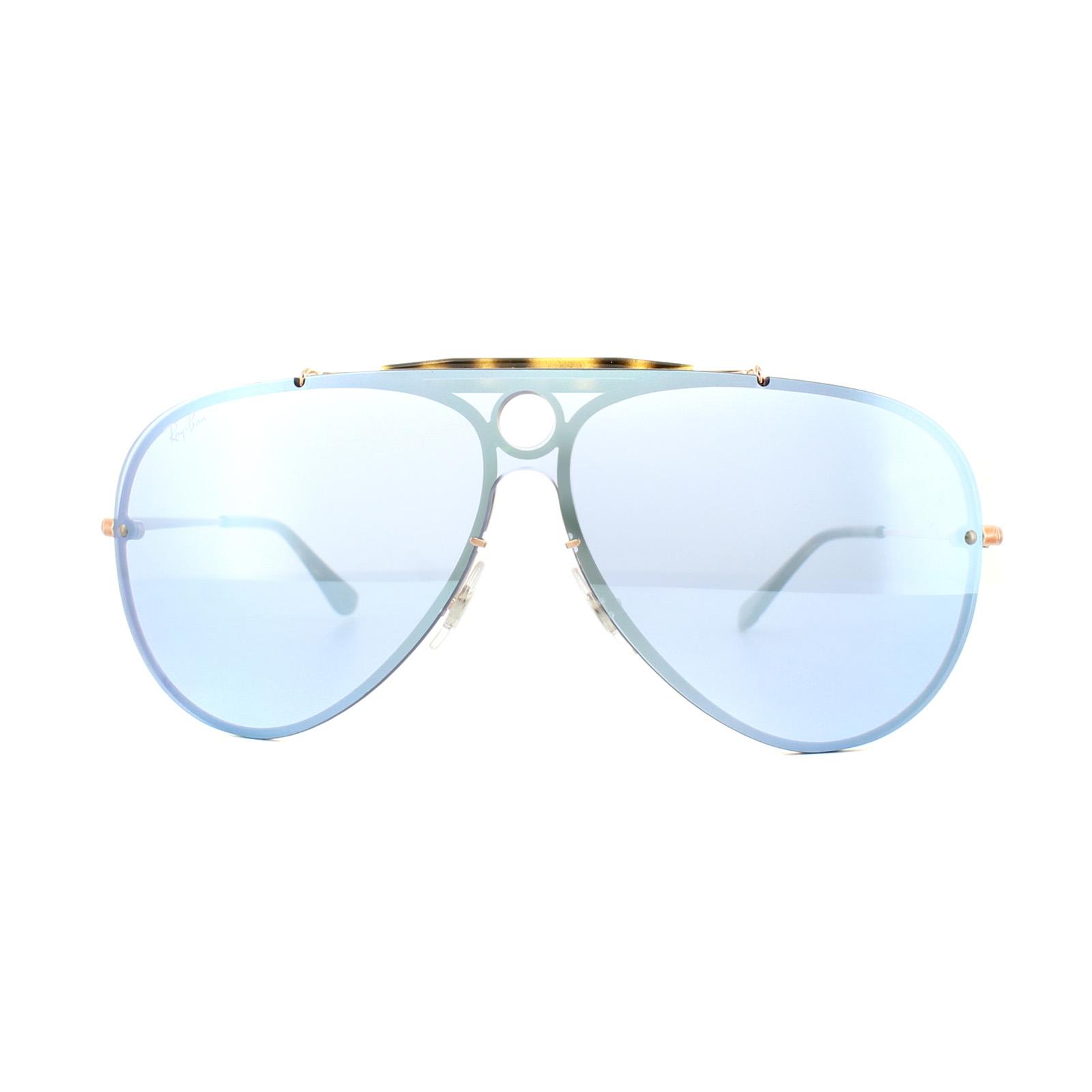 2384e1af080d1 Sentinel Ray-Ban Sunglasses Blaze Shooter 3581N 90351U Bronze Copper Violet  Silver Mirror