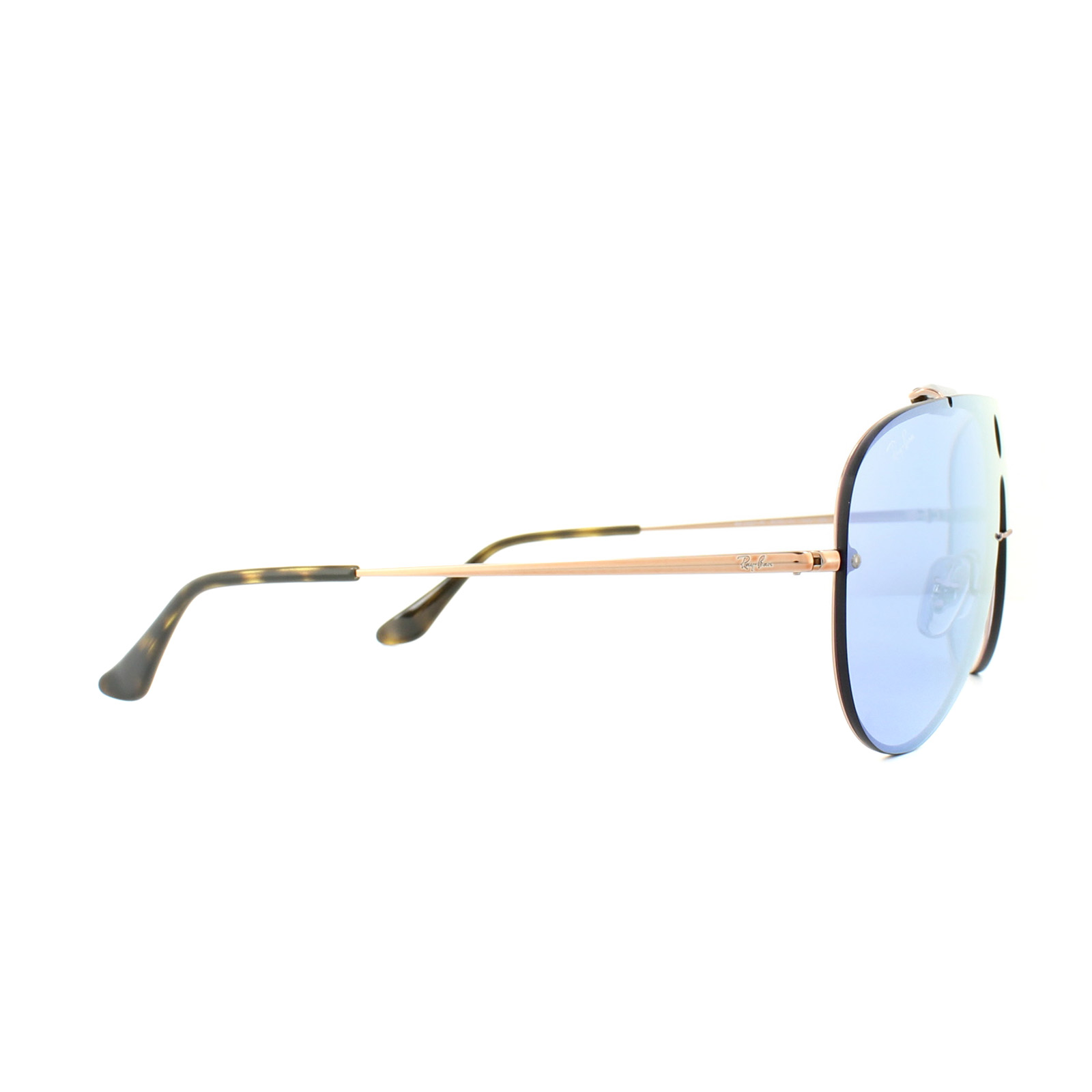bfb3d3be71a Sentinel Ray-Ban Sunglasses Blaze Shooter 3581N 90351U Bronze Copper Violet  Silver Mirror