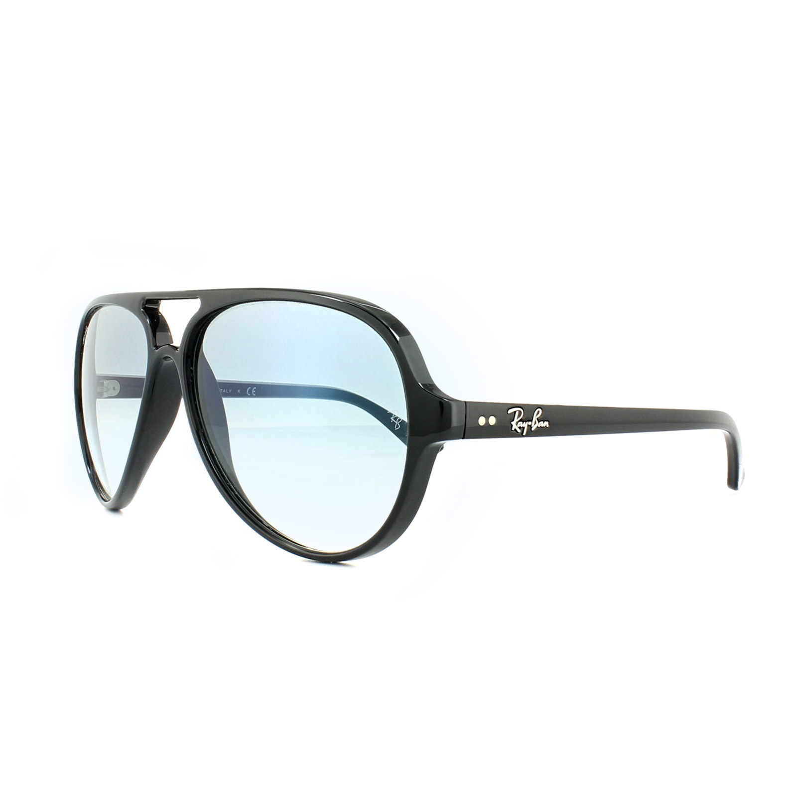 9c720bd1e8 Details about Ray-Ban Sunglasses Cats 5000 4125 601 3F Black Light Blue  Gradient