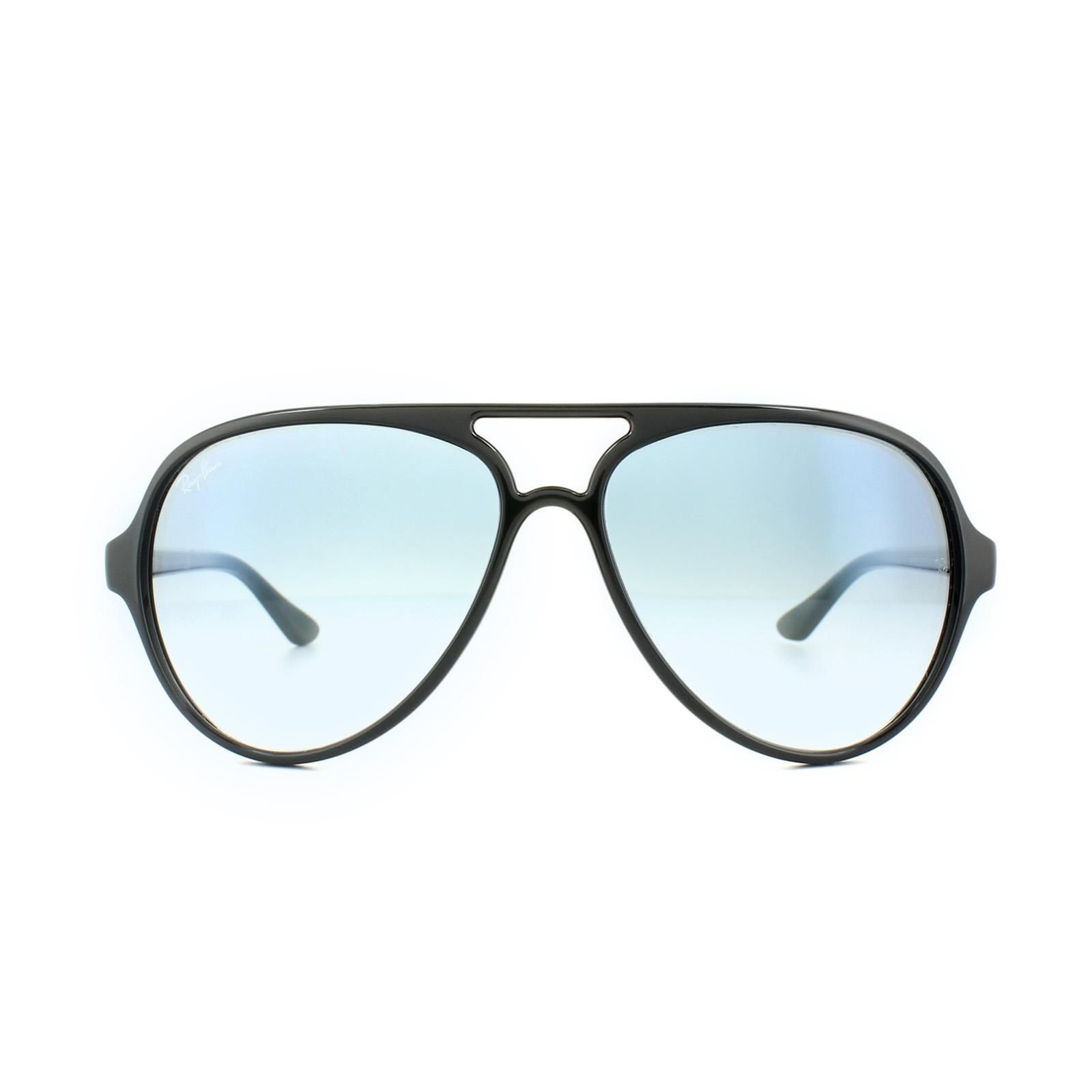 f60064596054c Sentinel Ray-Ban Sunglasses Cats 5000 4125 601 3F Black Light Blue Gradient