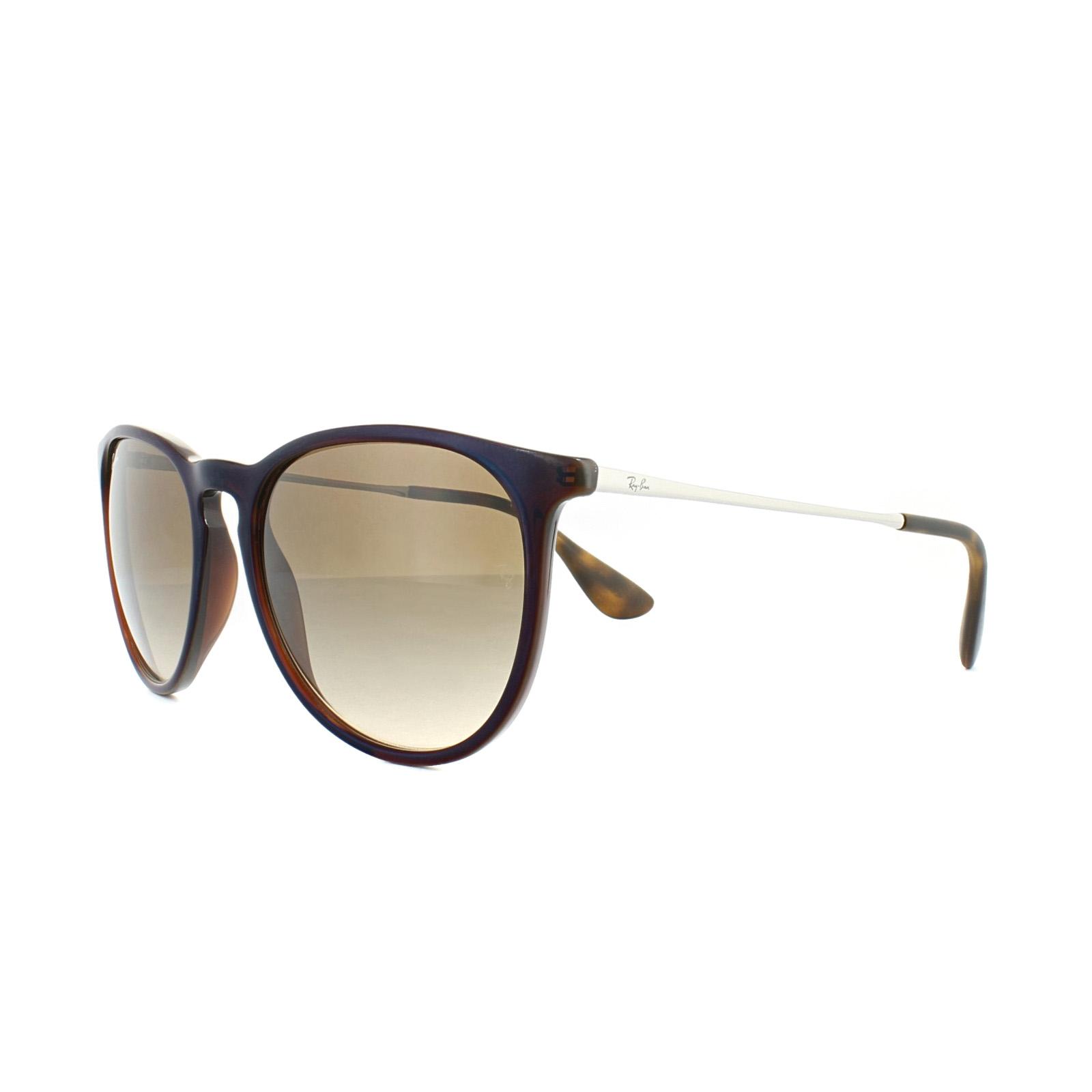 c29dfaa1c4f9a Sentinel Ray-Ban Sunglasses Erika 4171 631513 Brown Blue Brown Gradient