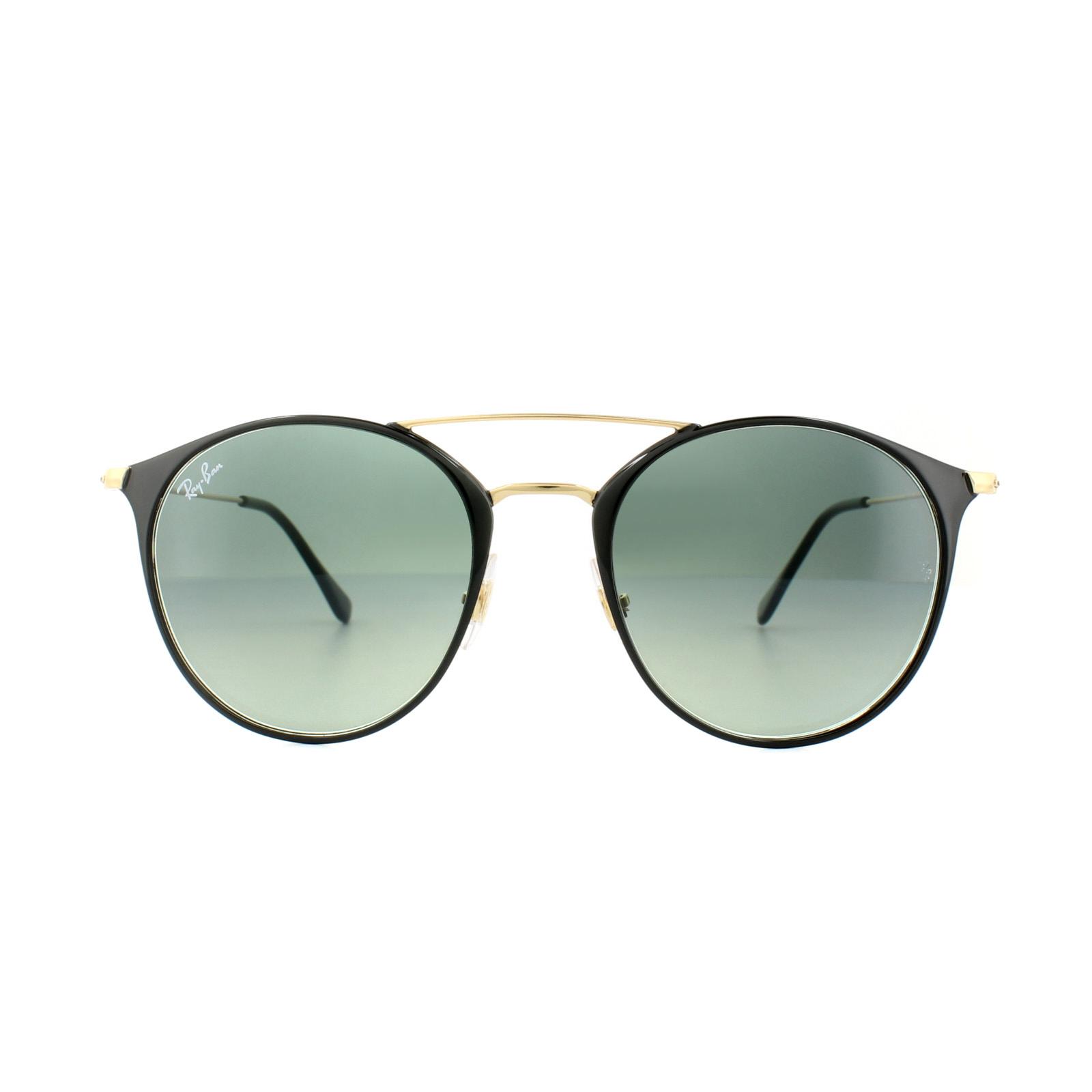 74206c4fd Sentinel Ray-Ban Sunglasses 3546 187/71 Black Gold Grey Gradient