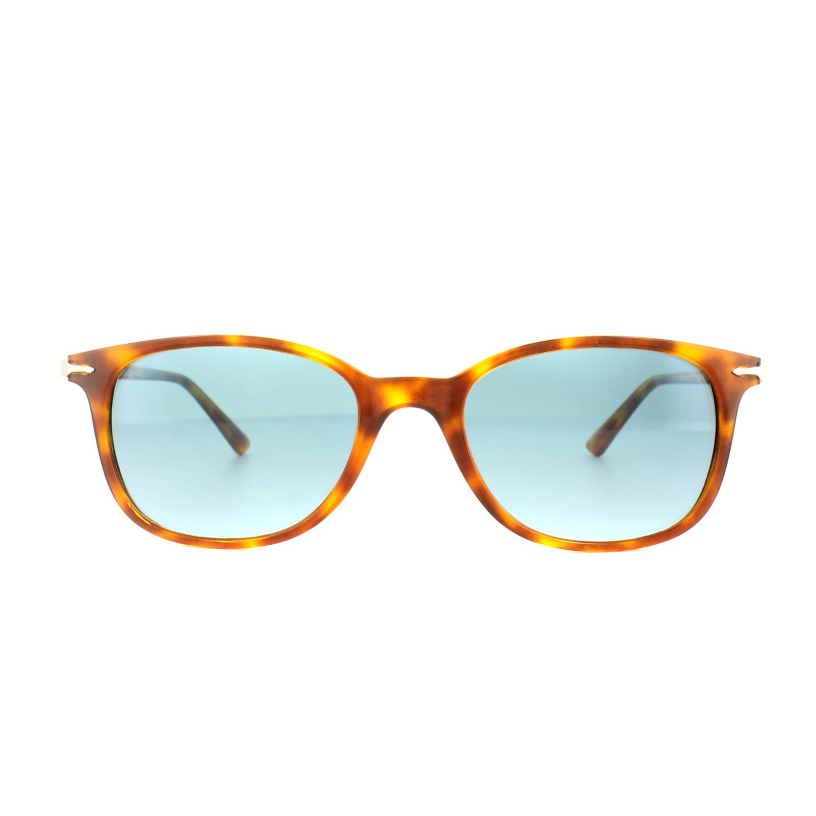 Persol Gafas de sol po3183s 1052q8 Havana Claro Azul Celeste ...