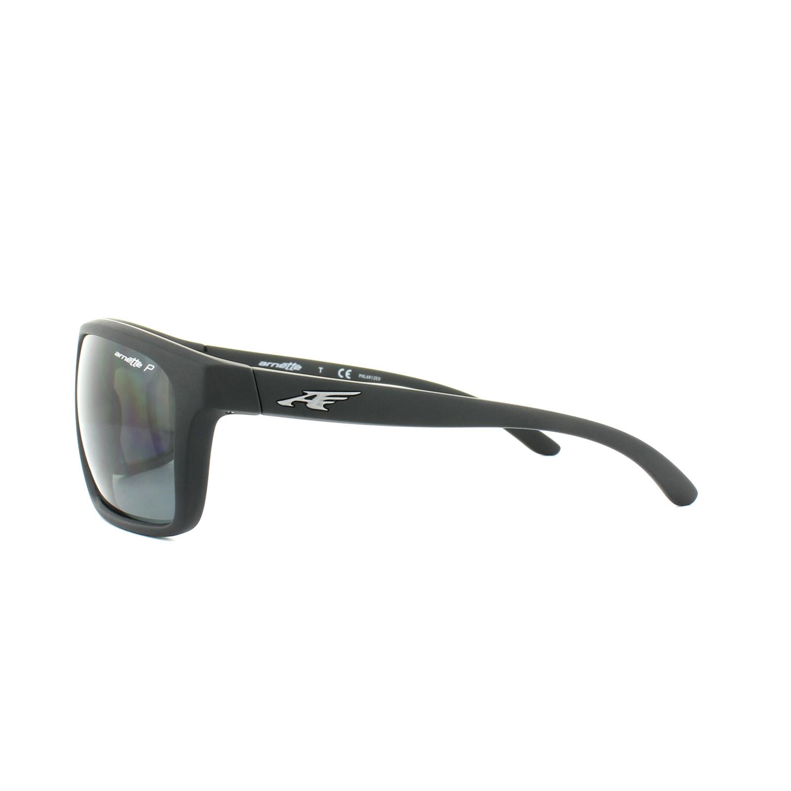 b64d12fd98 Sentinel Arnette Sunglasses Sandbank 4229 01 81 Matt Black Grey Polarized