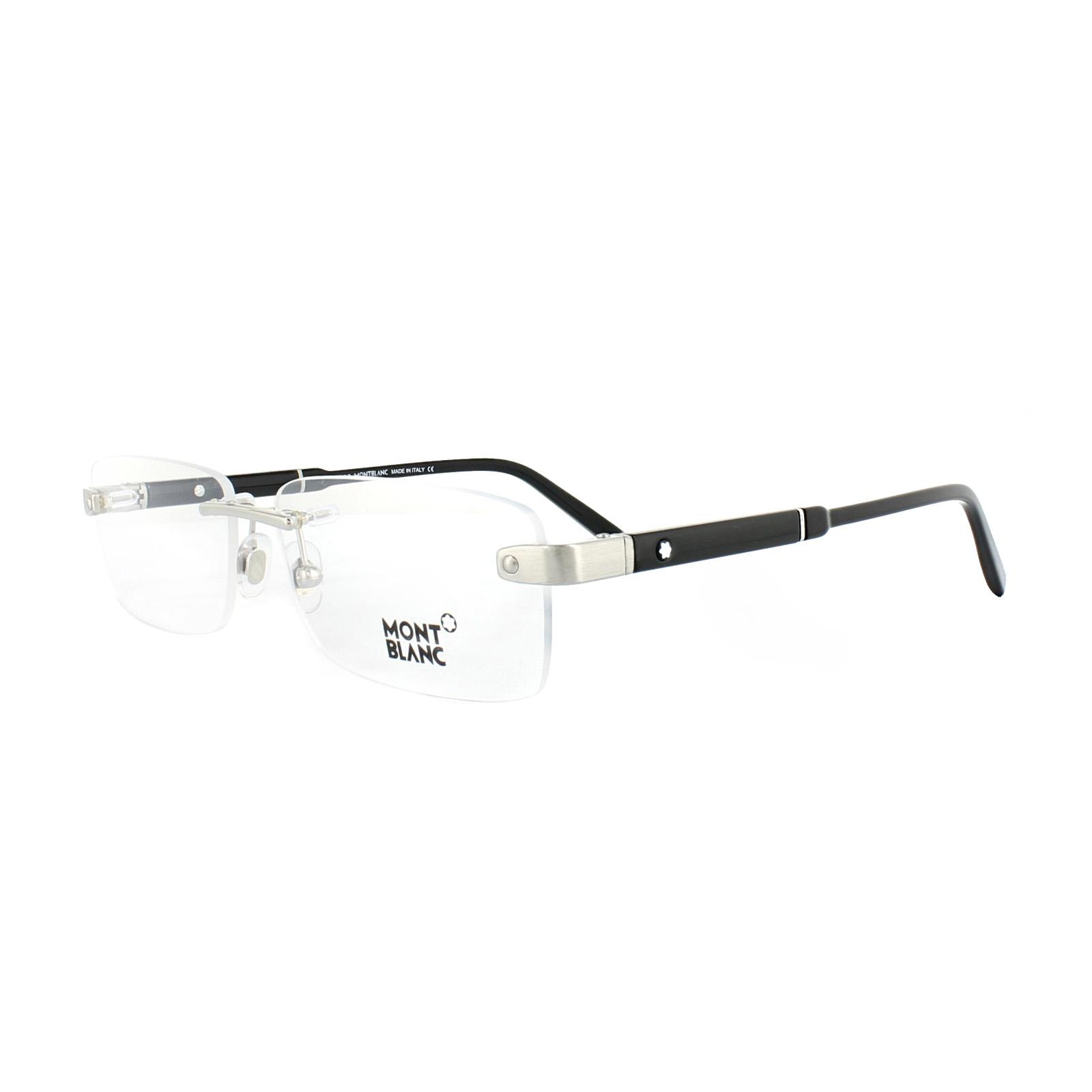 711804e42d2 Sentinel Mont Blanc Glasses Frames MB0617 016 Shiny Palladium Black