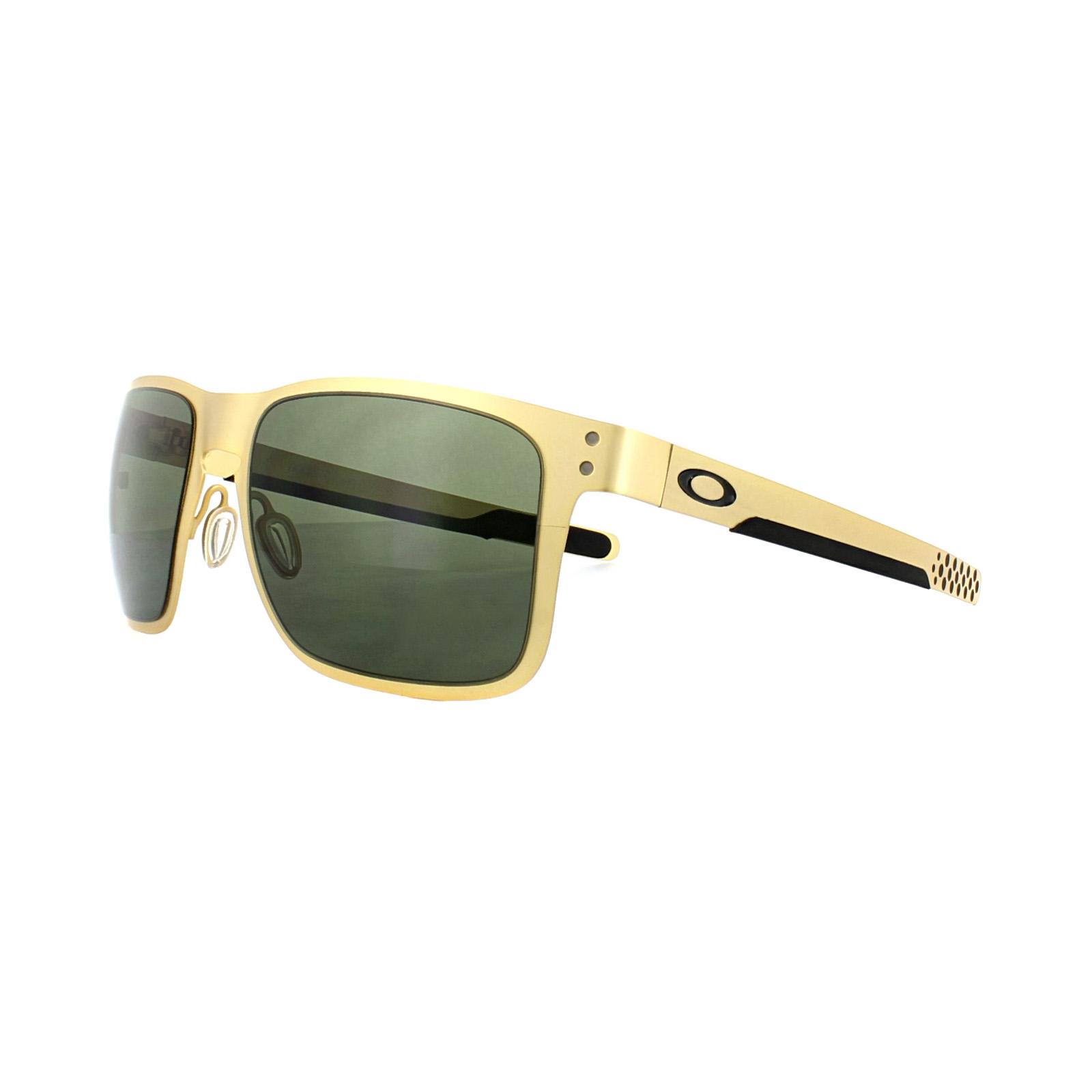 Oakley Gafas De Sol Holbrook Metal oo4123-08 Dorado Satén Gris ...