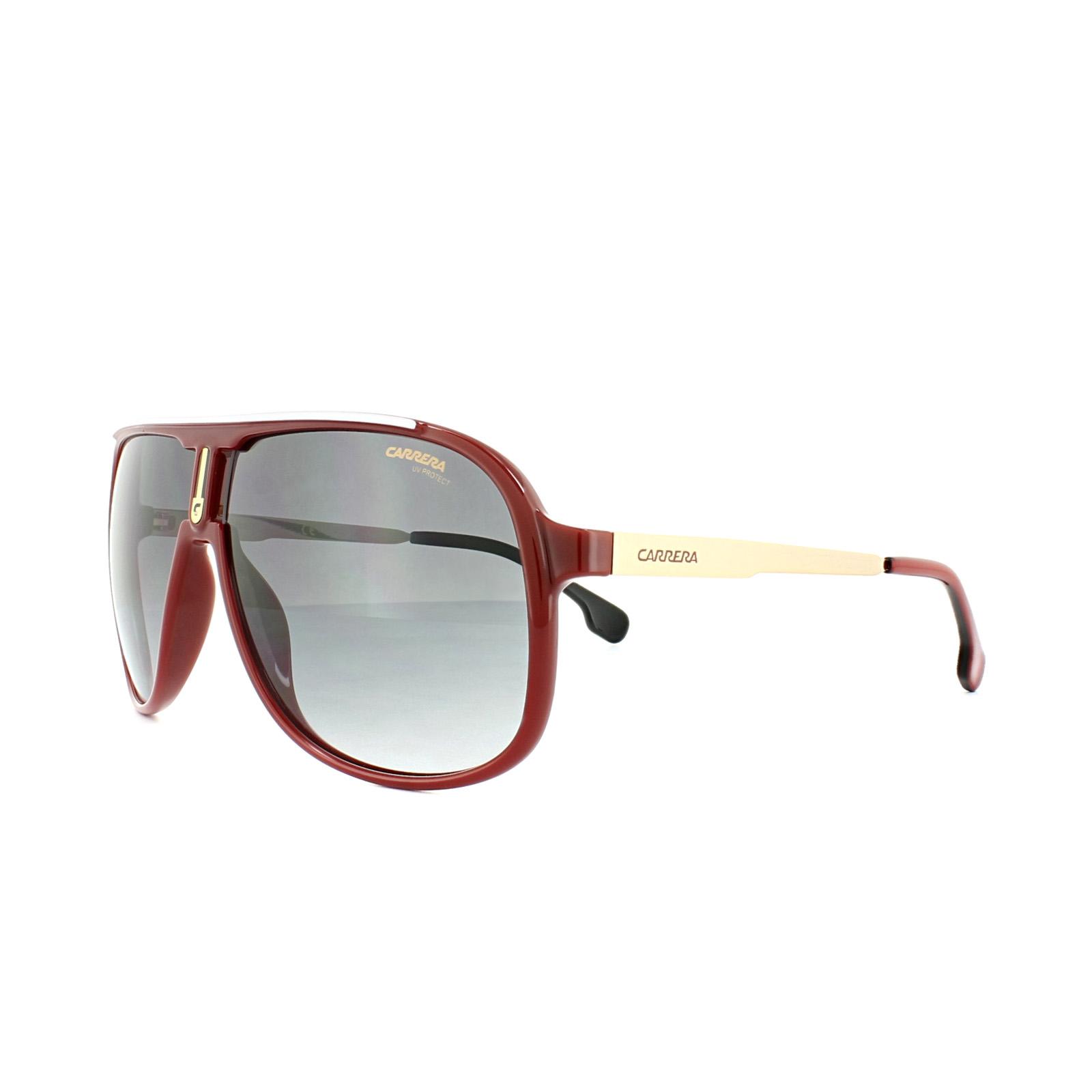 539adb79f3 Sentinel Carrera Sunglasses 1007 S C9A 9O Red Gold Dark Grey Gradient