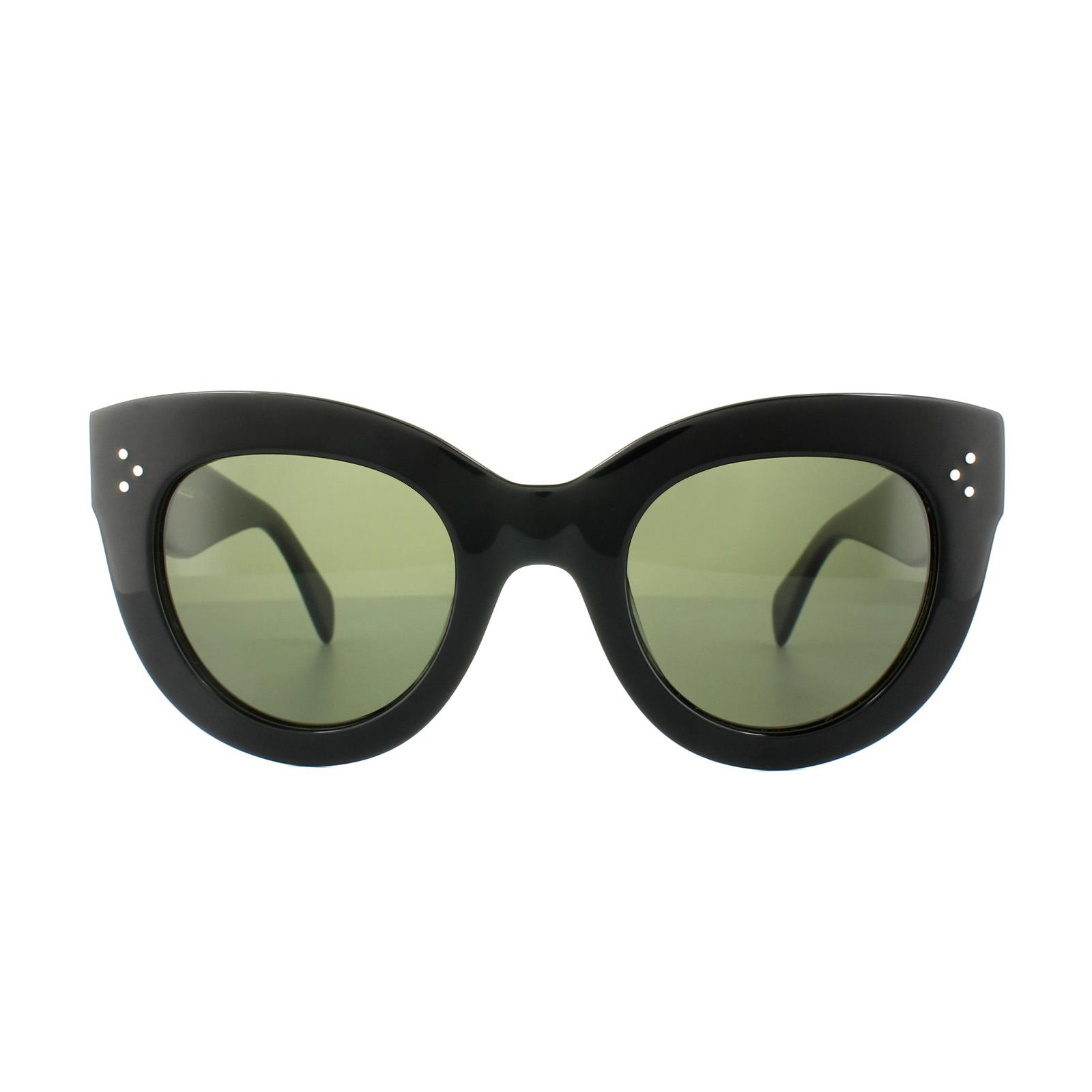 Sentinel Celine Sunglasses 41050/S Caty 807 1E Black Green