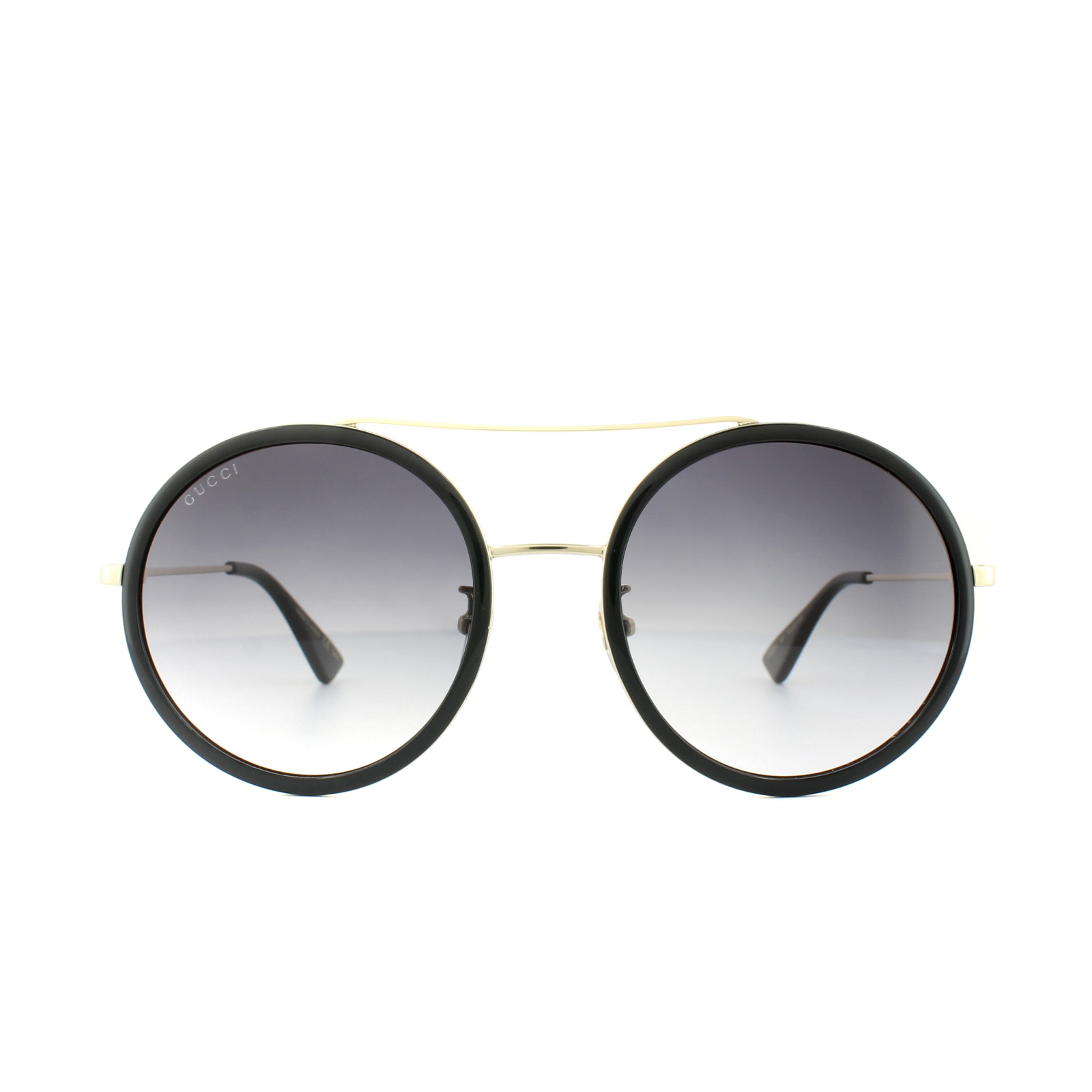 03b931bce4 Gucci Sunglasses GG0061S 001 Black Gold Grey Gradient 889652051208 ...