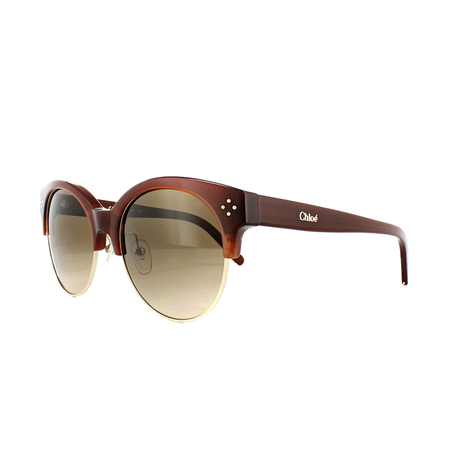 969803f3e1 Details about Chloe Sunglasses CE704S Boxwood 208 Caramel Gold Brown  Gradient