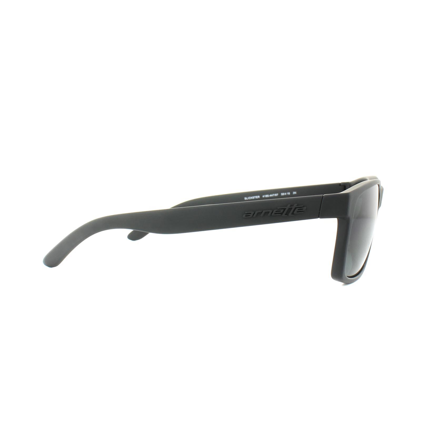 92dcc2a9a1 Sentinel Thumbnail 4. Sentinel Arnette Sunglasses Slickster 4185 447 87  Black Rubber Grey