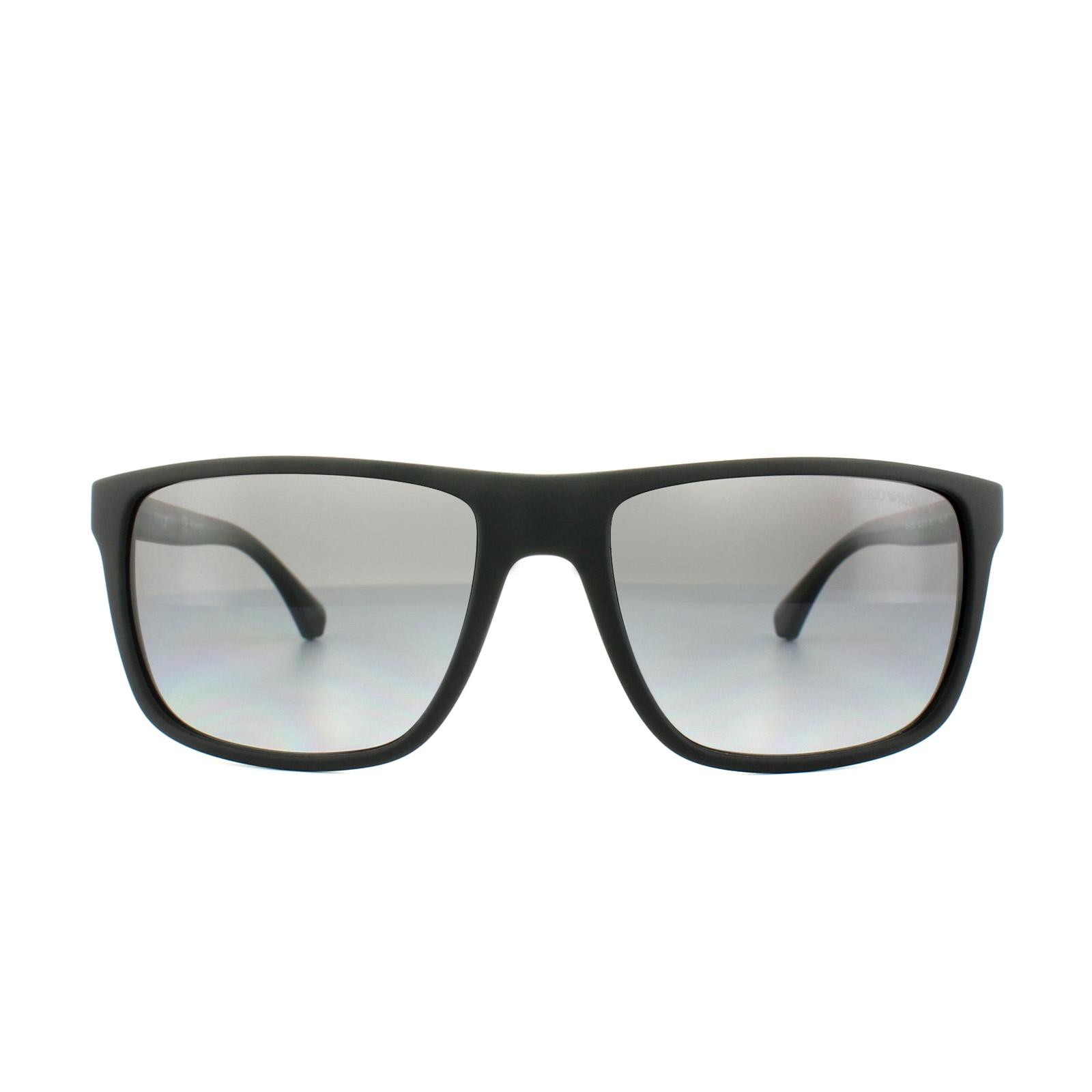 b78c997d1c23 Sentinel Emporio Armani Sunglasses 4033 5229T3 Black Grey Rubber Grey  Gradient Polarized