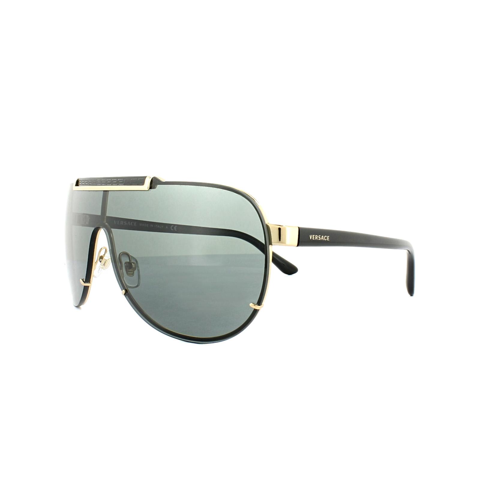5f5e657b5c Versace Sunglasses 2140 100287 Gold Grey 725125823265
