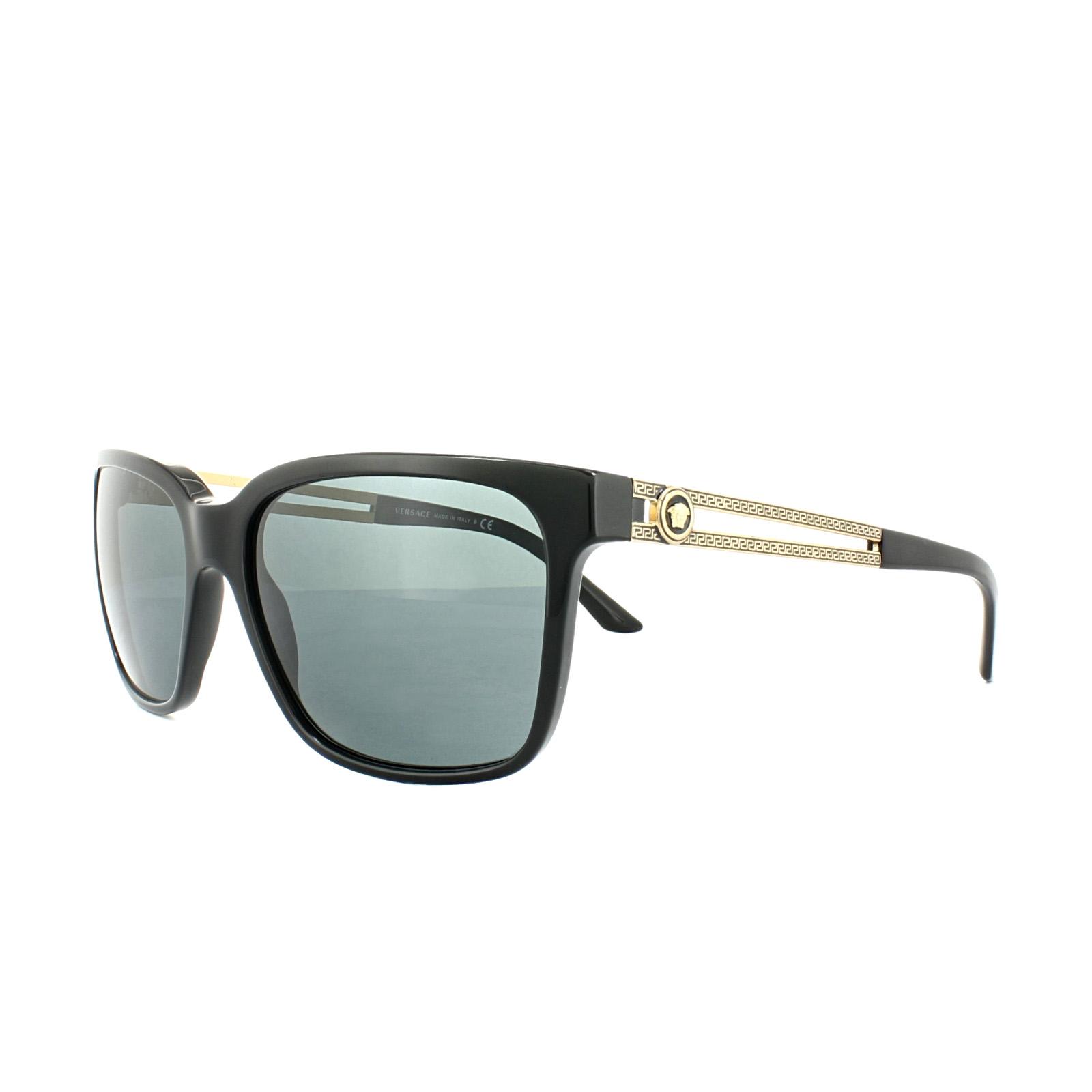 5819ddaa5c7 Details about Versace Sunglasses 4307 GB1 87 Black Grey