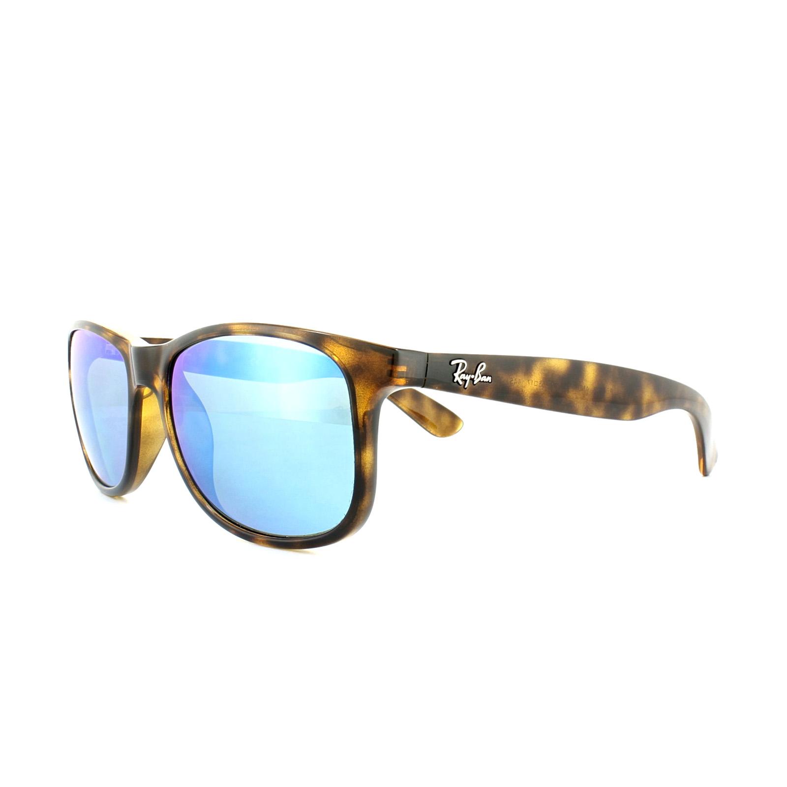 bc201de5bf Sentinel Rayban Sunglasses Andy 4202 710 9R Shiny Havana Blue Mirror  Polarized