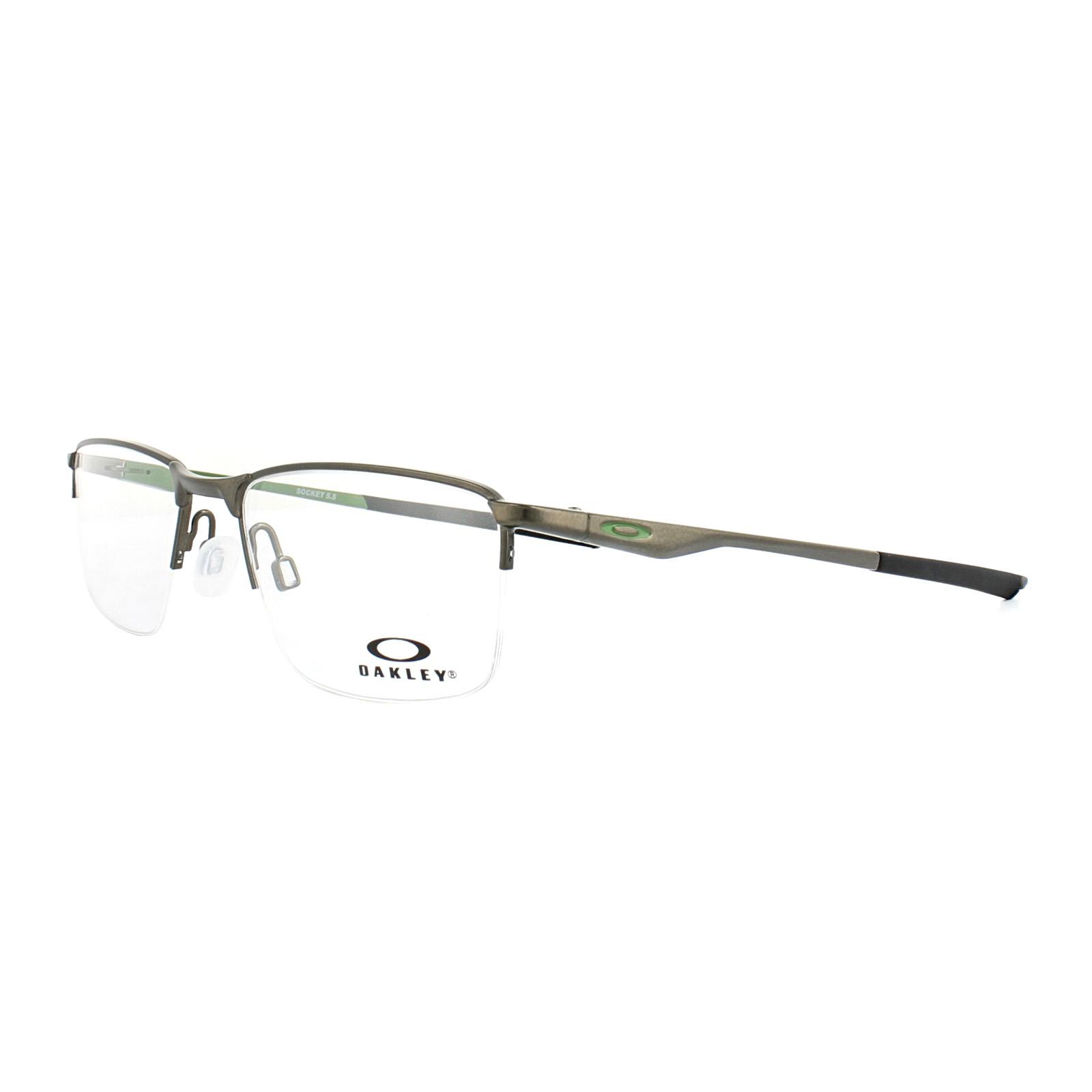 e0e4ed95d3 Sentinel Oakley Glasses Frames Socket 5.5 OX3218-02 Satin Pewter Mens