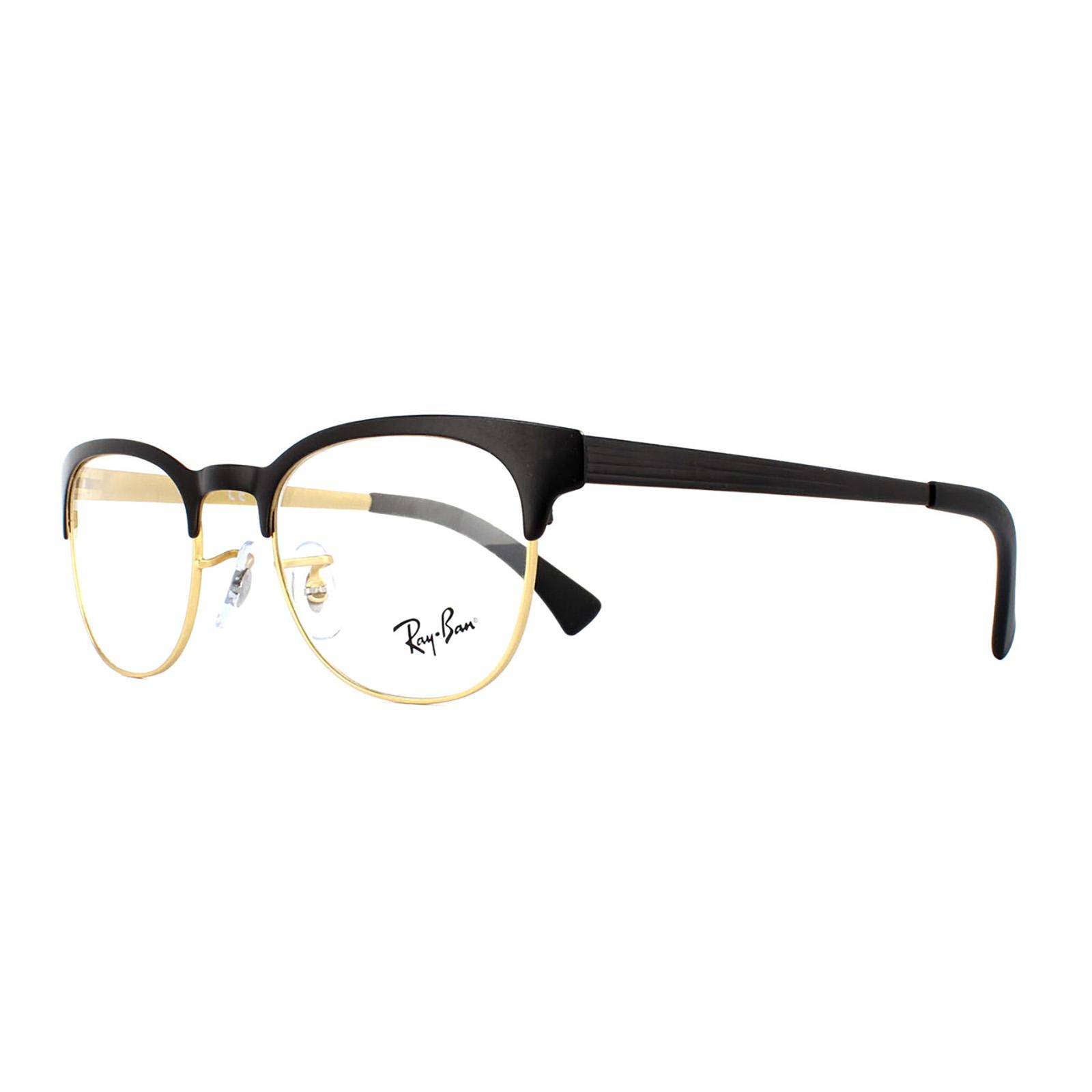 Ray-Ban Glasses Frames 6317 2833 Top Black On Matte Gold Mens Womens ...