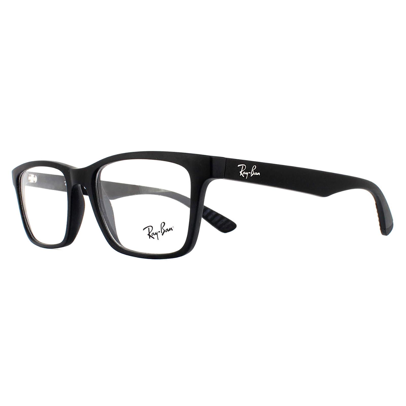 86a0087ffcfcf Sentinel Ray-Ban Glasses Frames 7025 2077 Matte Black Men 53mm