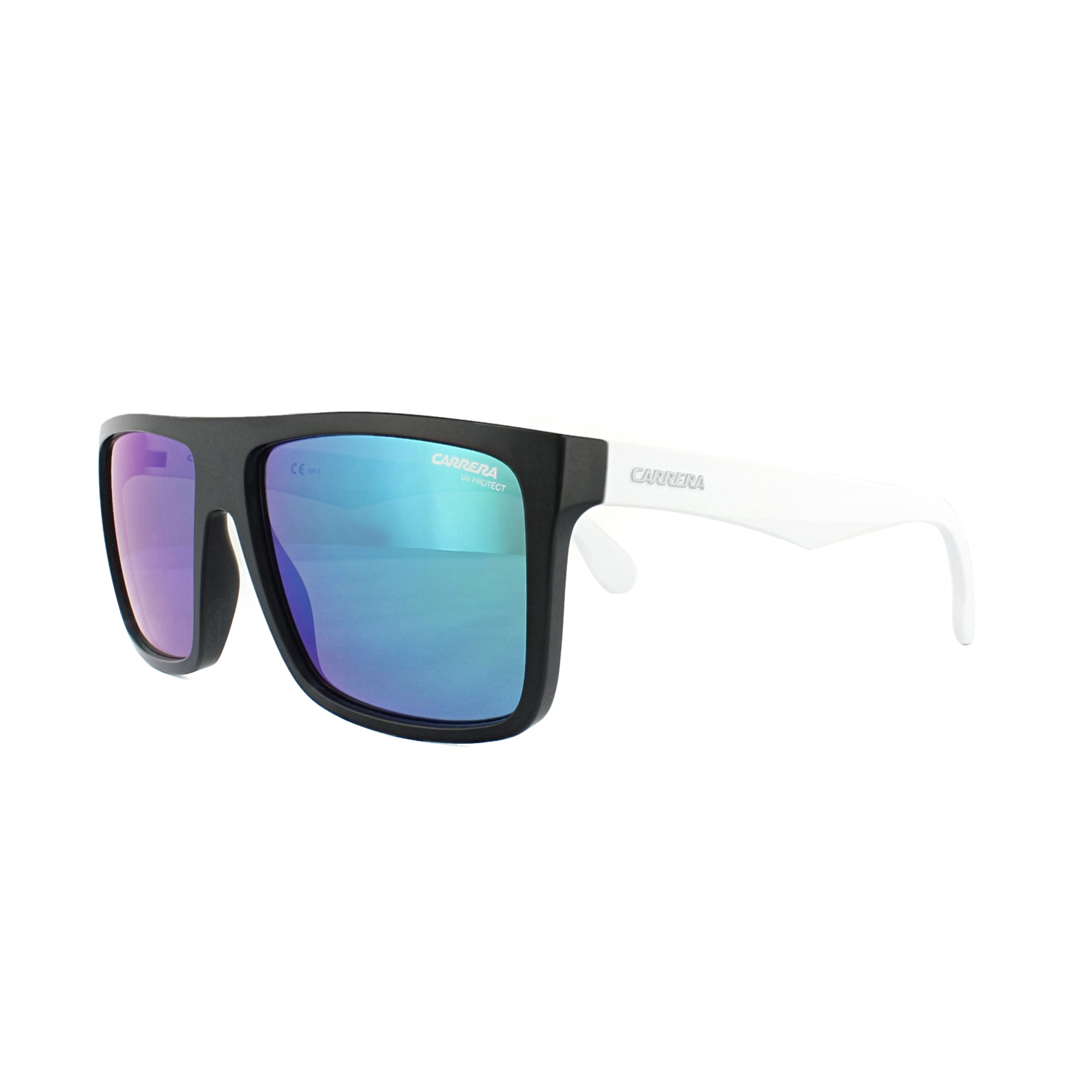 61ded4441ac Sentinel Carrera Sunglasses Carrera 5039 S 4NL Z9 Matt Black White Green  Mirror