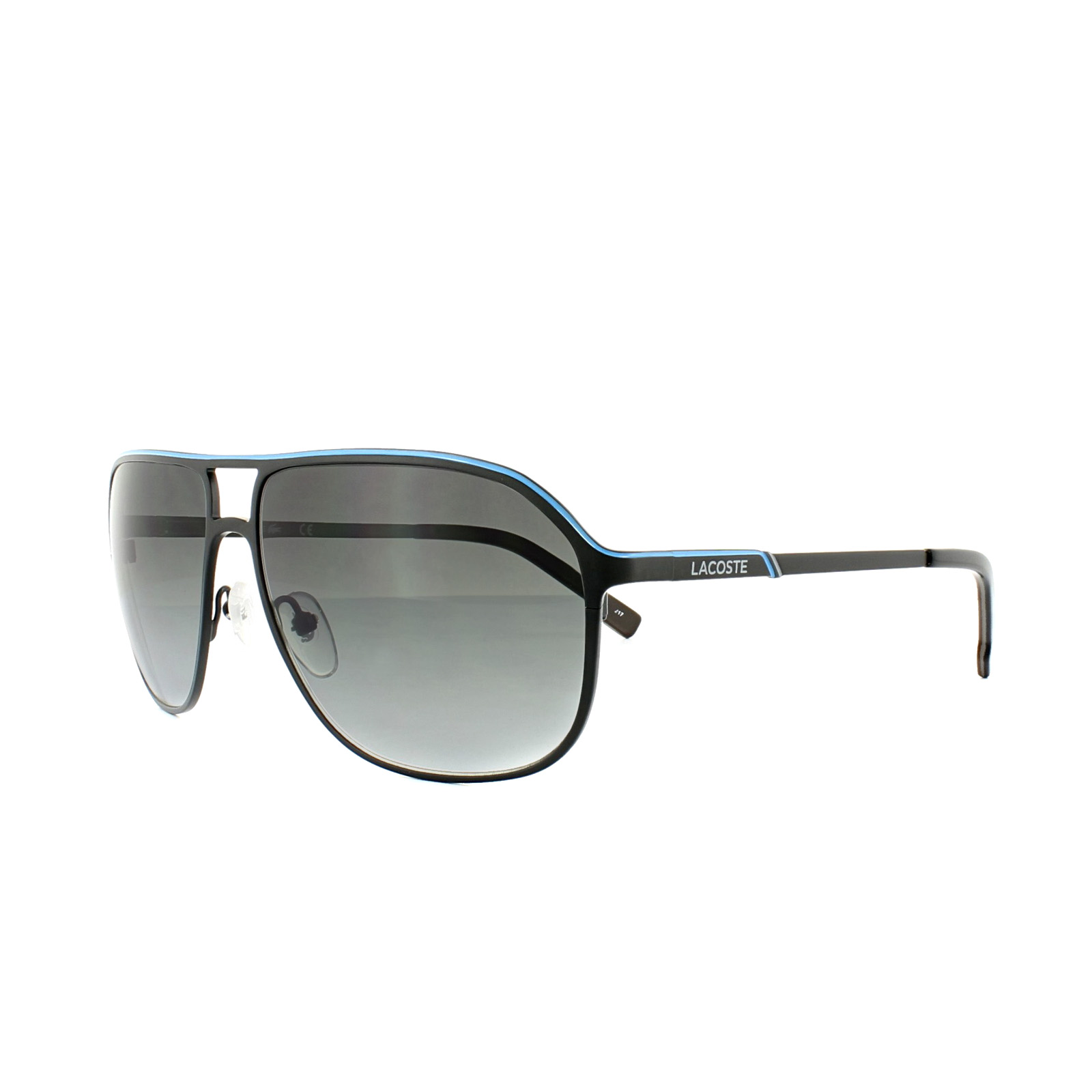 7fe46f94ff8d Lacoste Sunglasses L139SB 001 Satin Black Grey Gradient 886895268004 ...