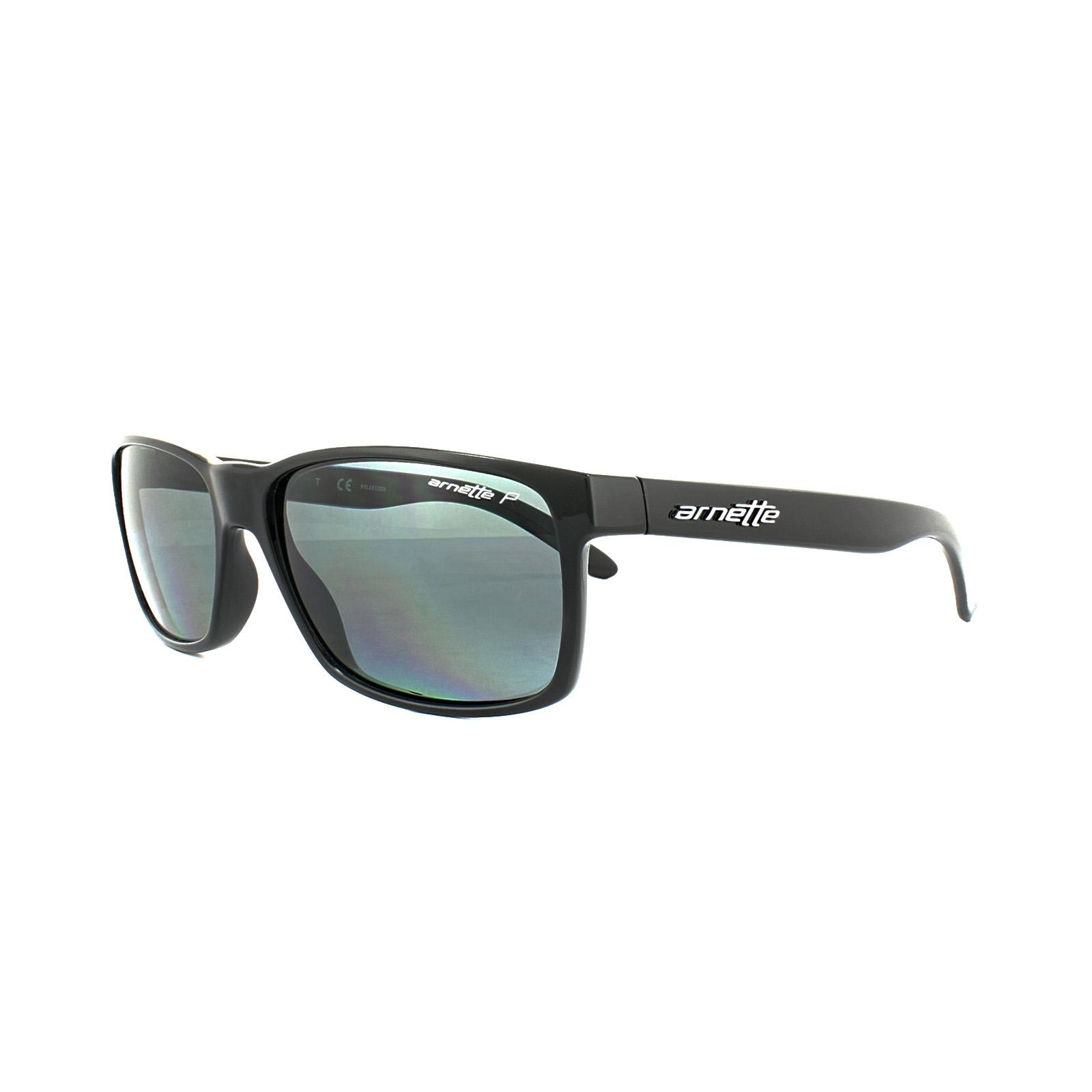 7af96c3f8bd21 Sentinel Arnette Sunglasses Slickster 4185 41 81 Black Grey Polarized
