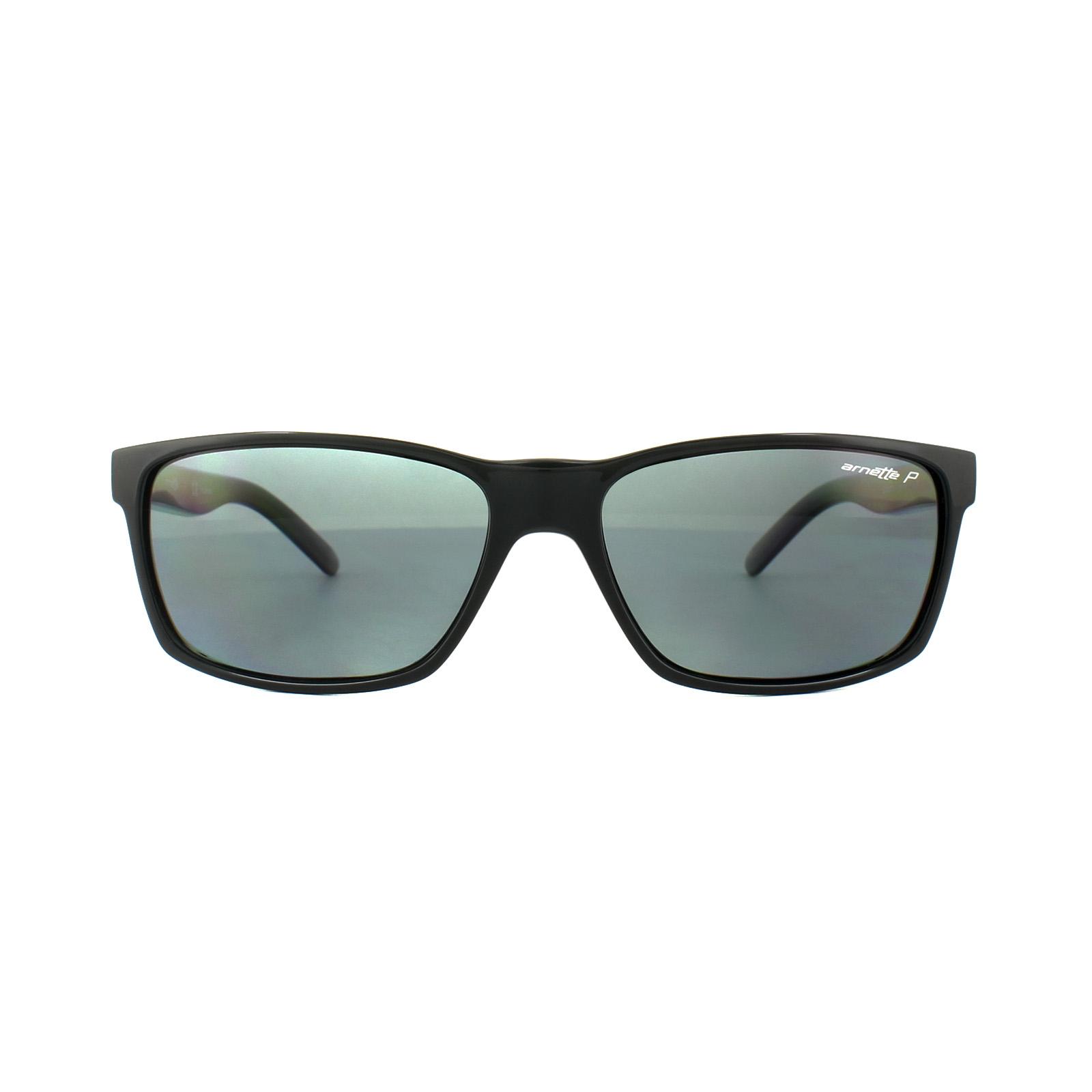 067e4c9fb13 Sentinel Arnette Sunglasses Slickster 4185 41 81 Black Grey Polarized