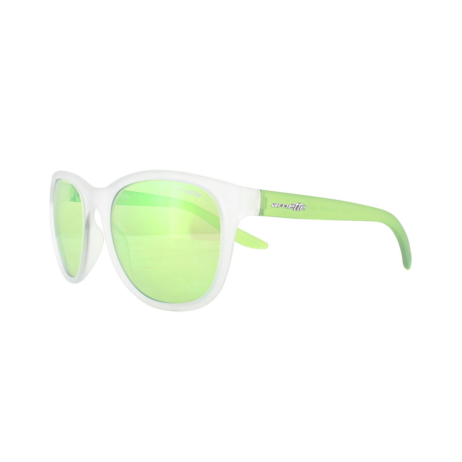 e48e25c1e43 Sentinel Arnette Sunglasses 4228 Grower 23888N Matt Clear Light Green Light  Green Mirror
