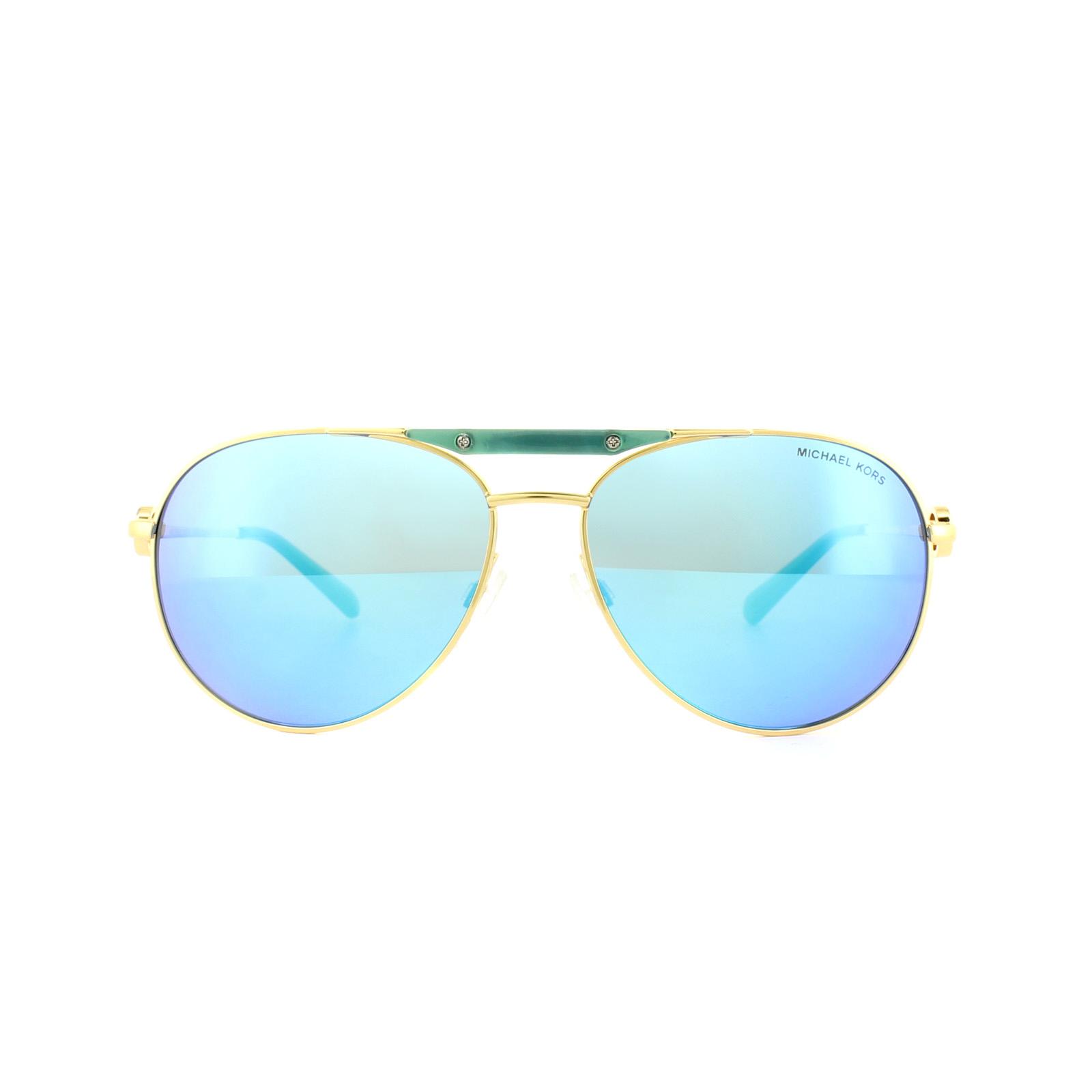 22db91dd47 Sentinel Michael Kors Sunglasses Zanzibar MK5001 109725 Gold and Turquoise Teal  Mirror