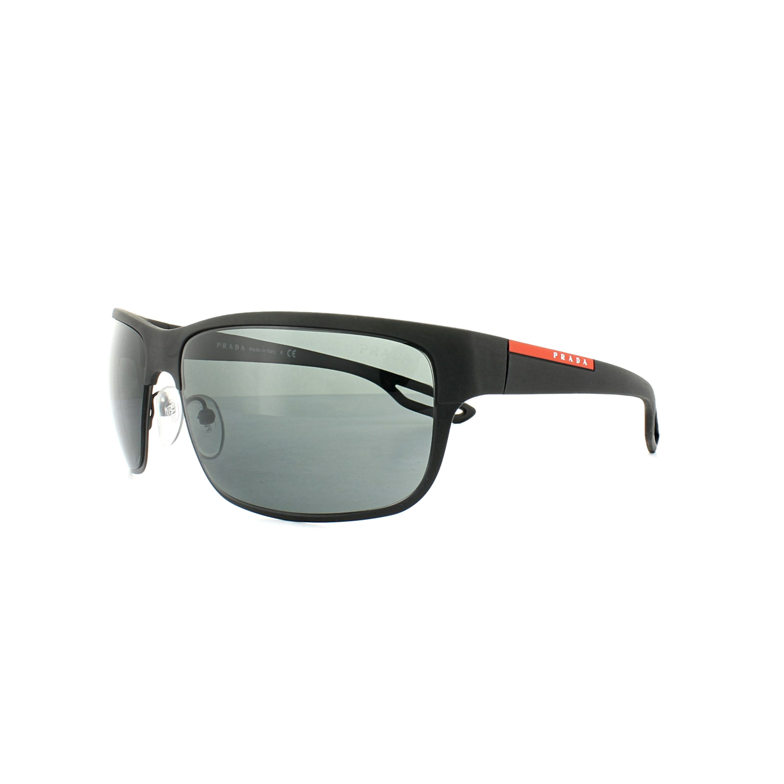 08d80050fe5 Sentinel Prada Sport Sunglasses PS50QS DG01A1 Rubber Matte Black Grey
