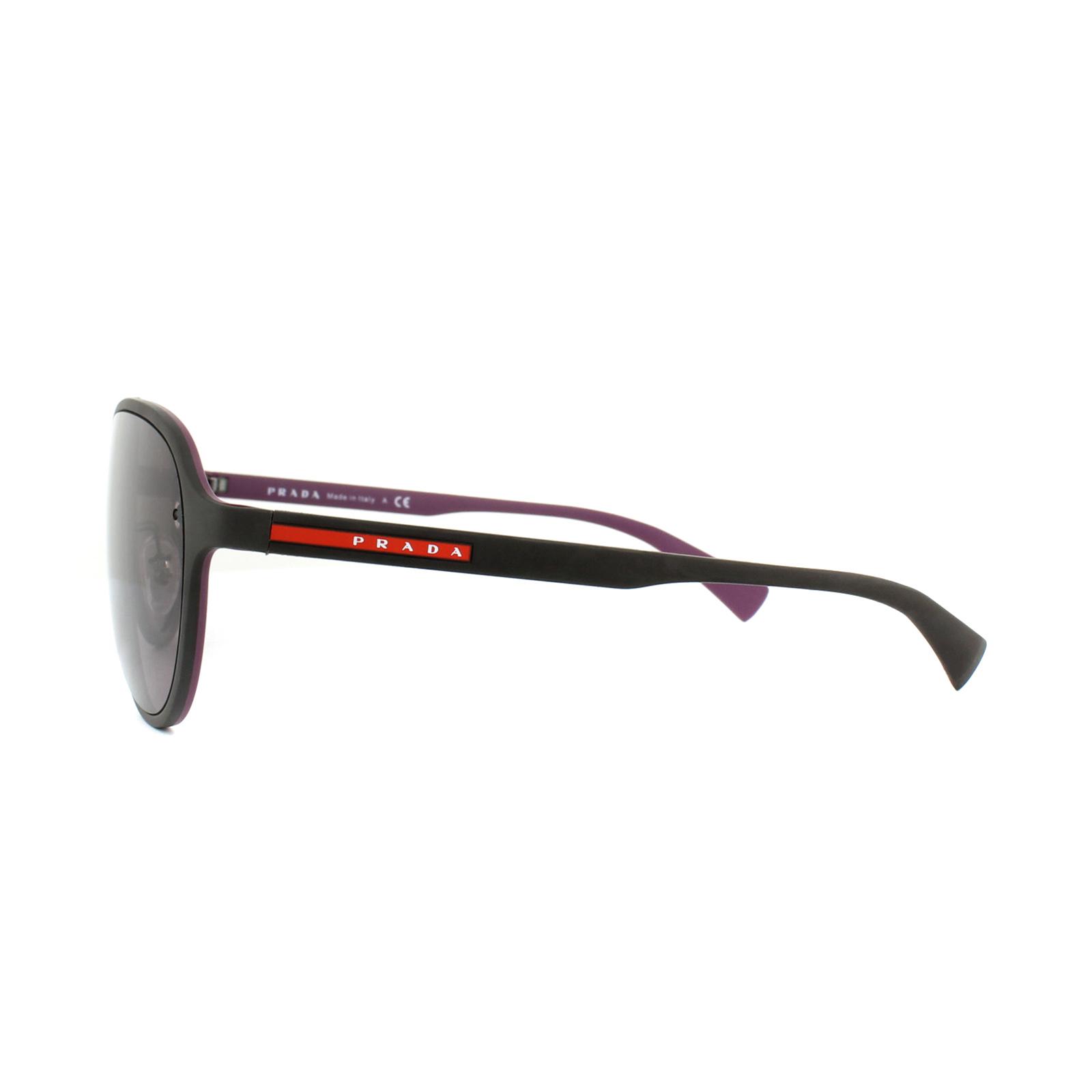 Detalles de Prada Sport Gafas de Sol PS52SS VII6X1 Marrón y Violeta Púrpura Marrón