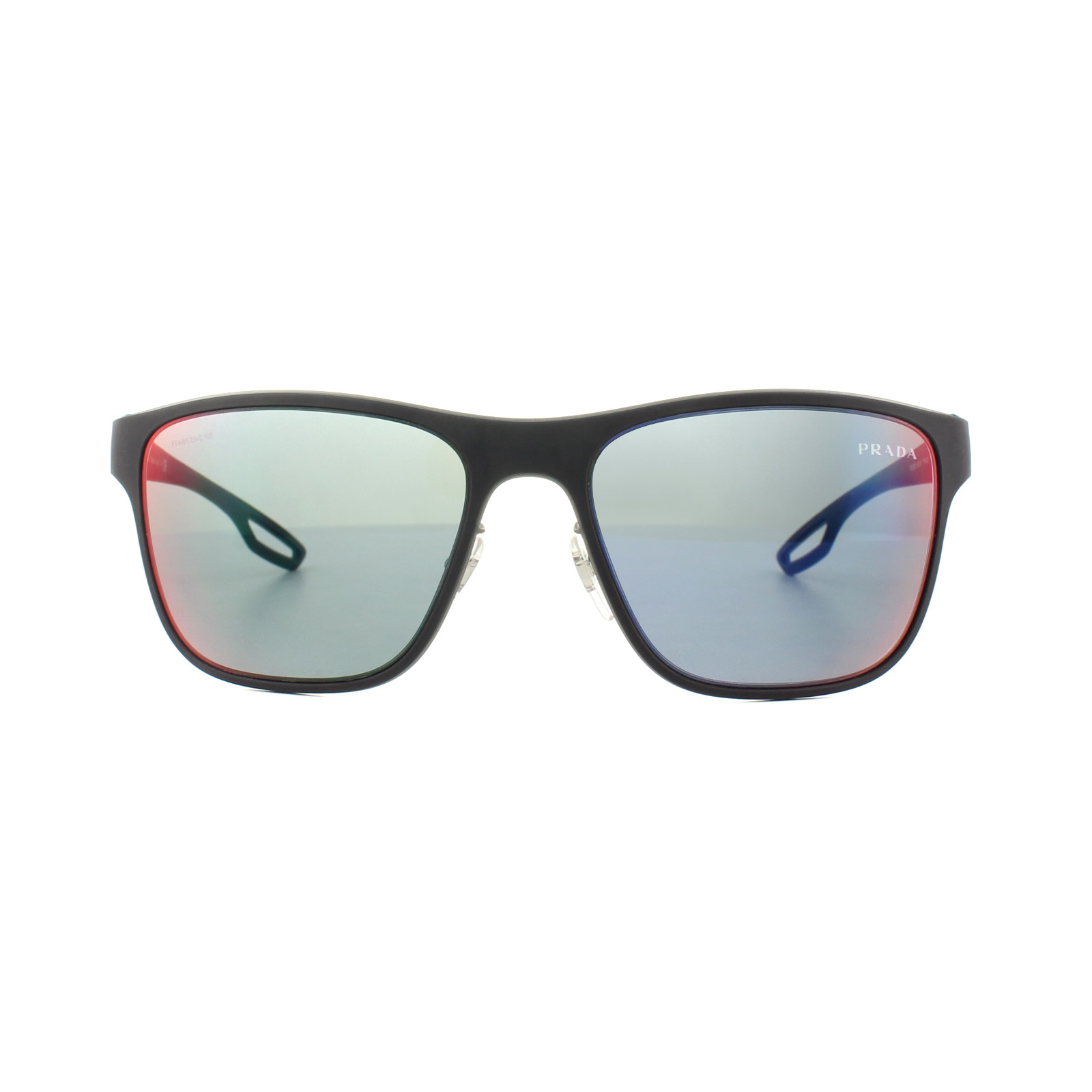 ccc21214889 Sentinel Prada Sport Sunglasses PS56QS TFY9Q1 Blue Rubber Dark Grey Mirror