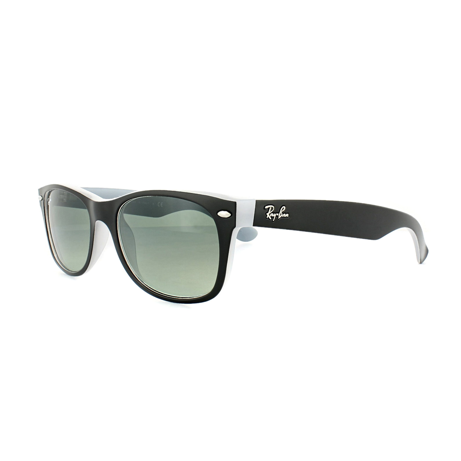 a1a8ccee603 Sentinel Ray-Ban Sunglasses New Wayfarer 2132 630971 Matt Black Opal Ice  Grey Gradient S
