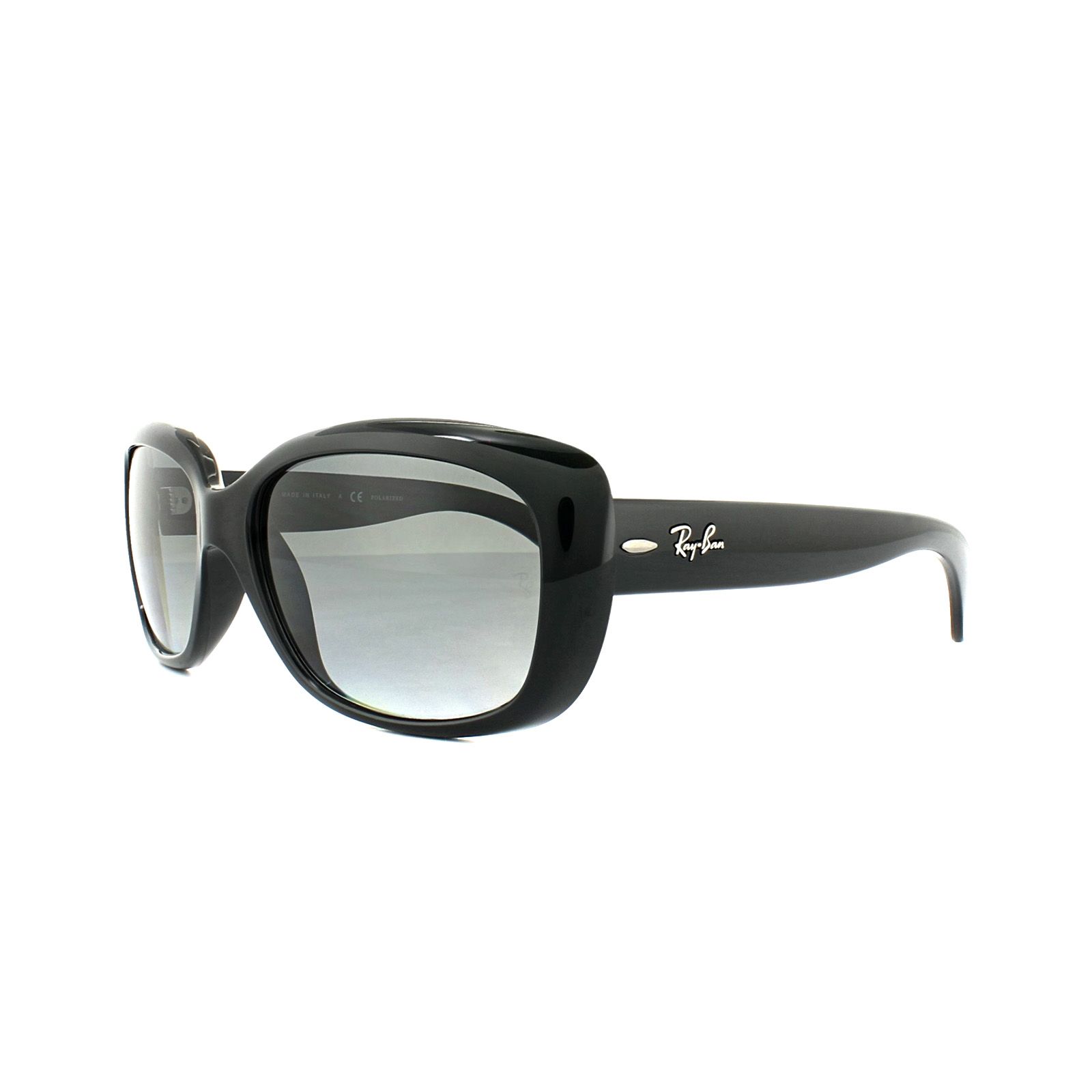 87583f13e30 Details about Ray-Ban Sunglasses Jackie Ohh 4101 601 T3 Shiny Black Grey  Gradient Polarized