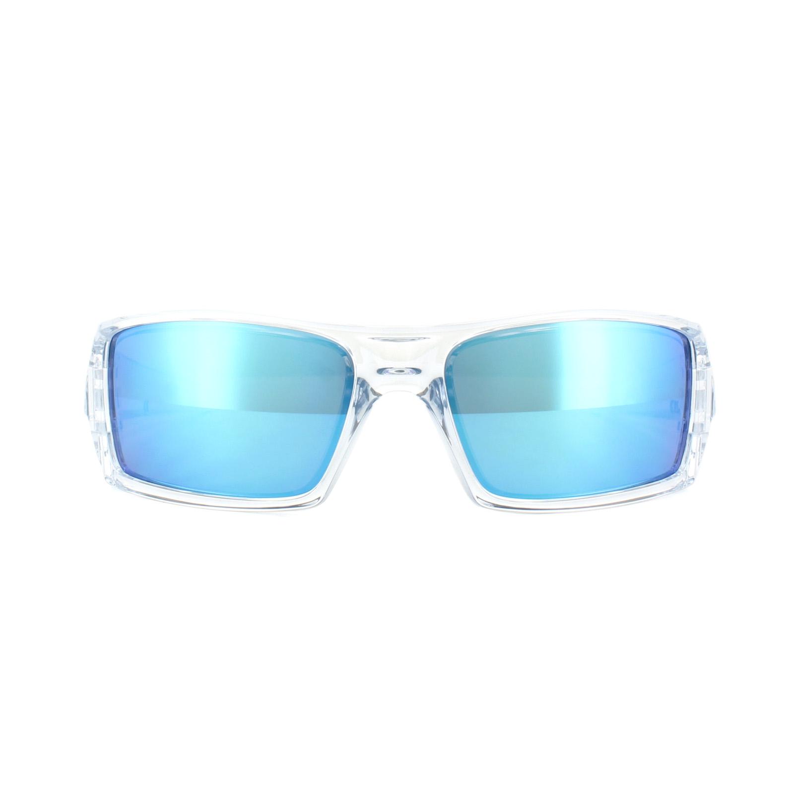 OAKLEY GASCAN Polished Clear / Sapphire Iridium 9014-17 9YUVEwf