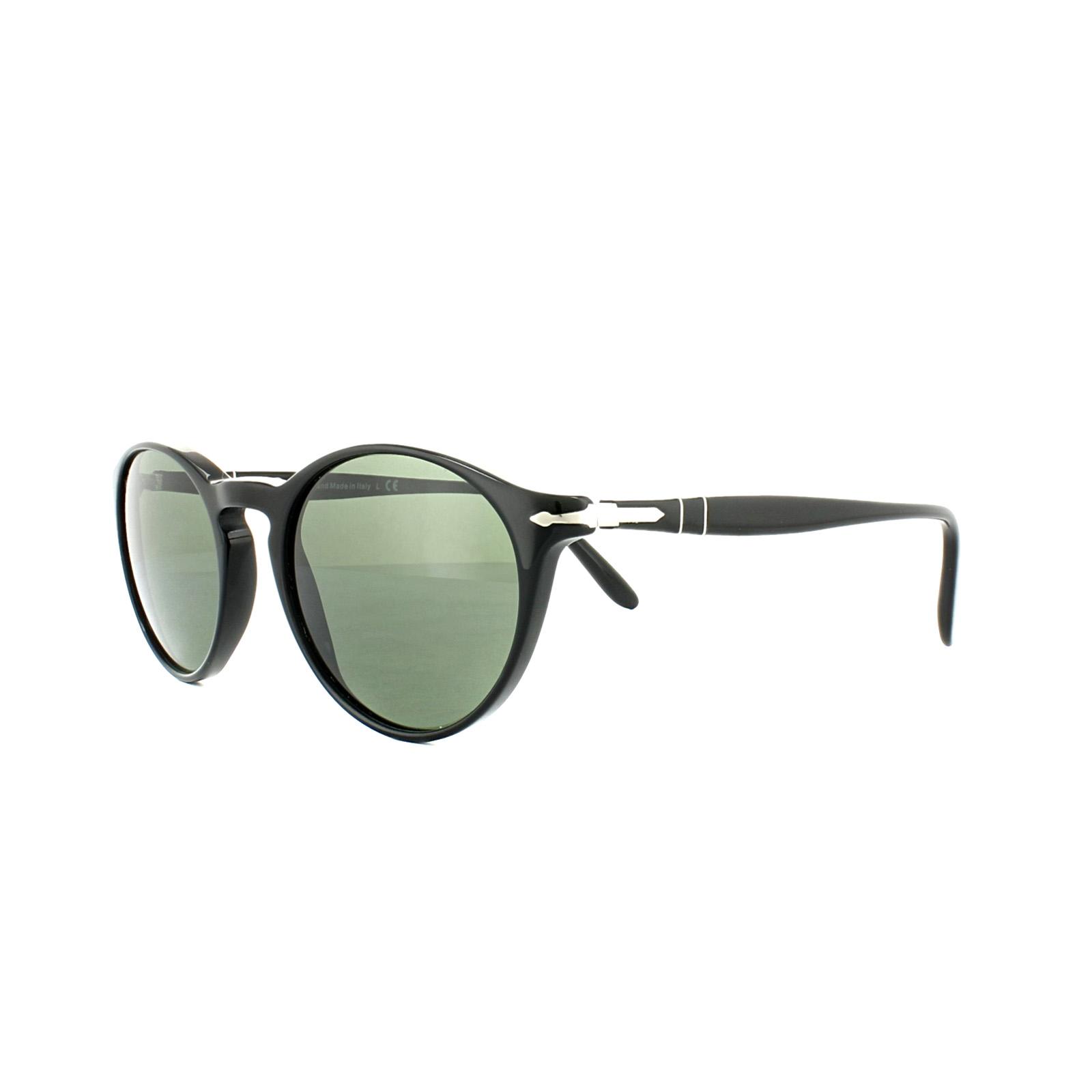04e04668cf Sentinel Persol Sunglasses 3092SM 901431 Black Crystal Grey Green