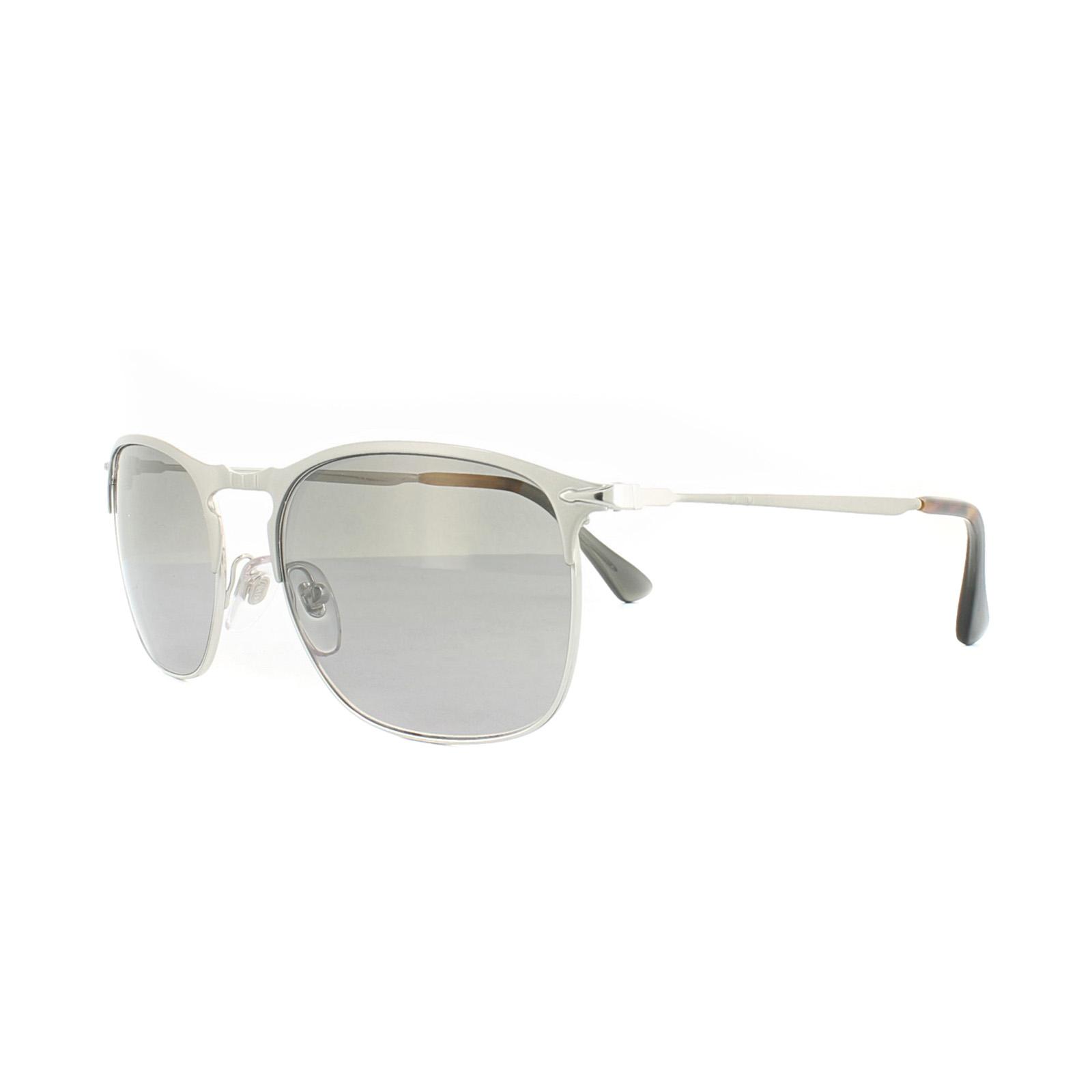 71595f2a0d2 Sentinel Persol Sunglasses 7359S 1068M3 Silver Green Gradient Polarized