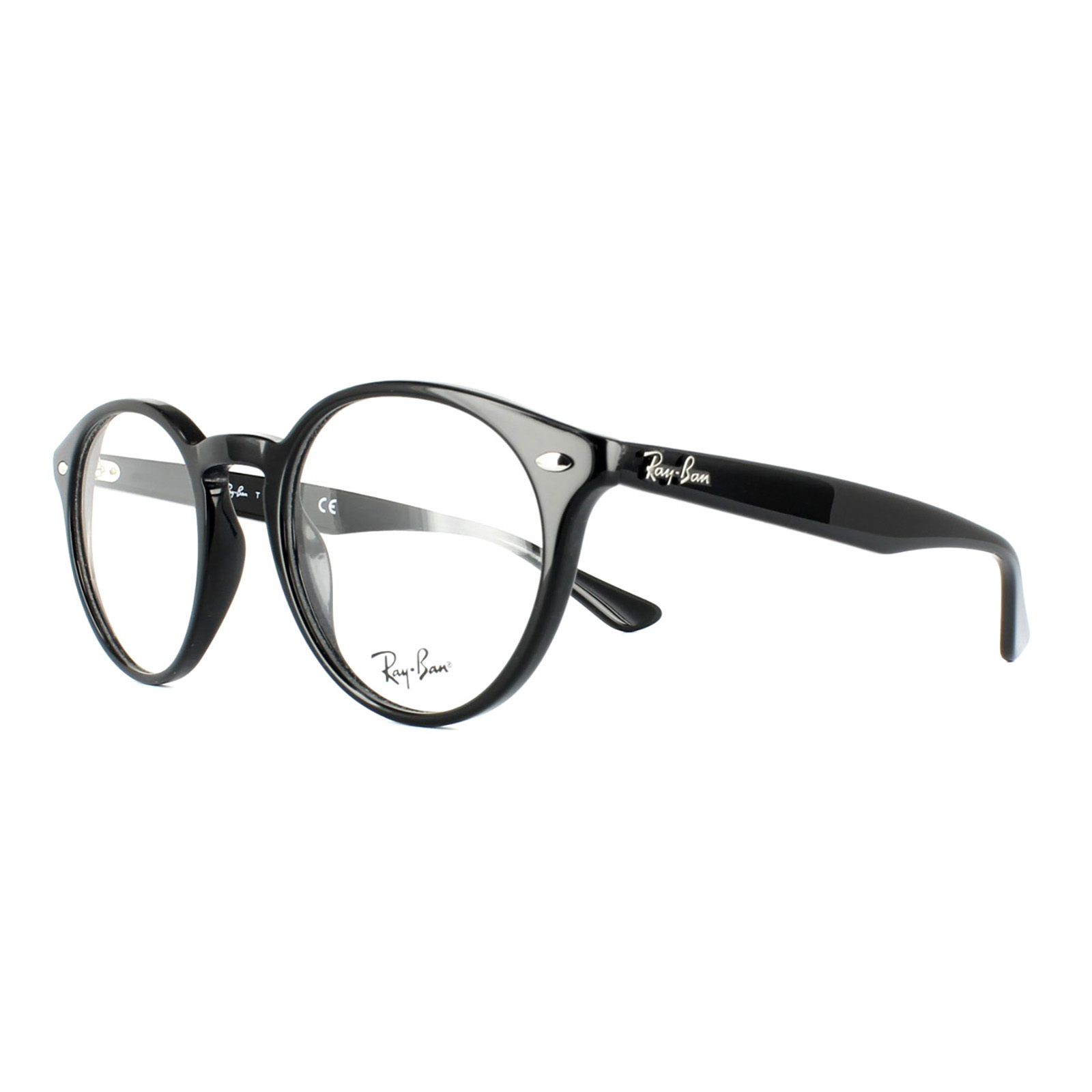 8796fb5c2e8 Details about Ray-Ban Glasses Frames 2180V 2000 Shiny Black Mens Womens 47mm