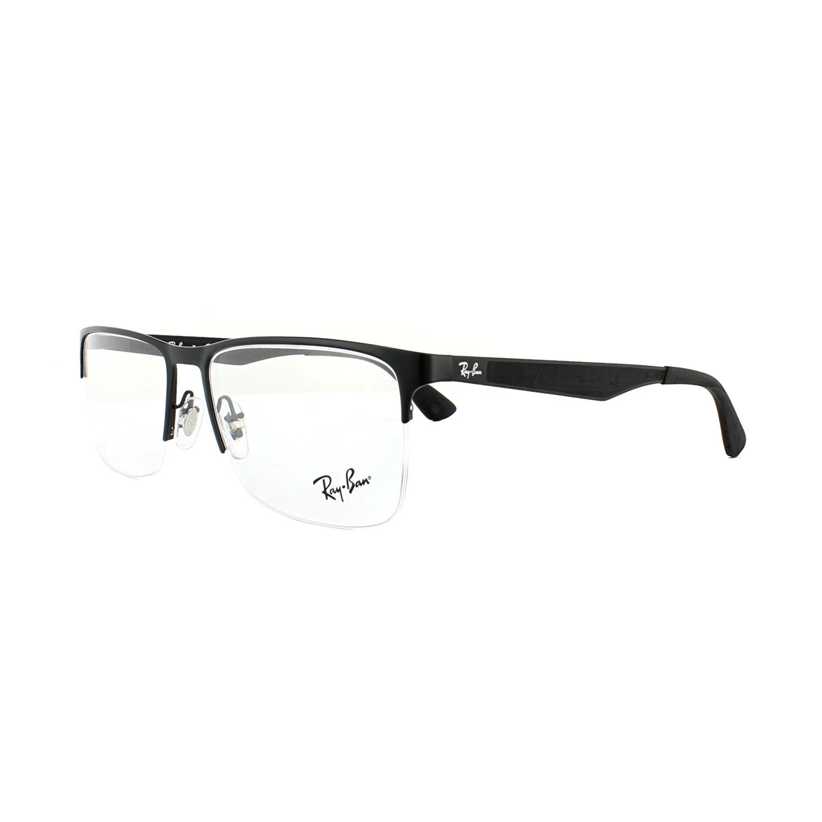 Ray-Ban Glasses Frames 6335 2503 Matt Black Mens 56mm   eBay