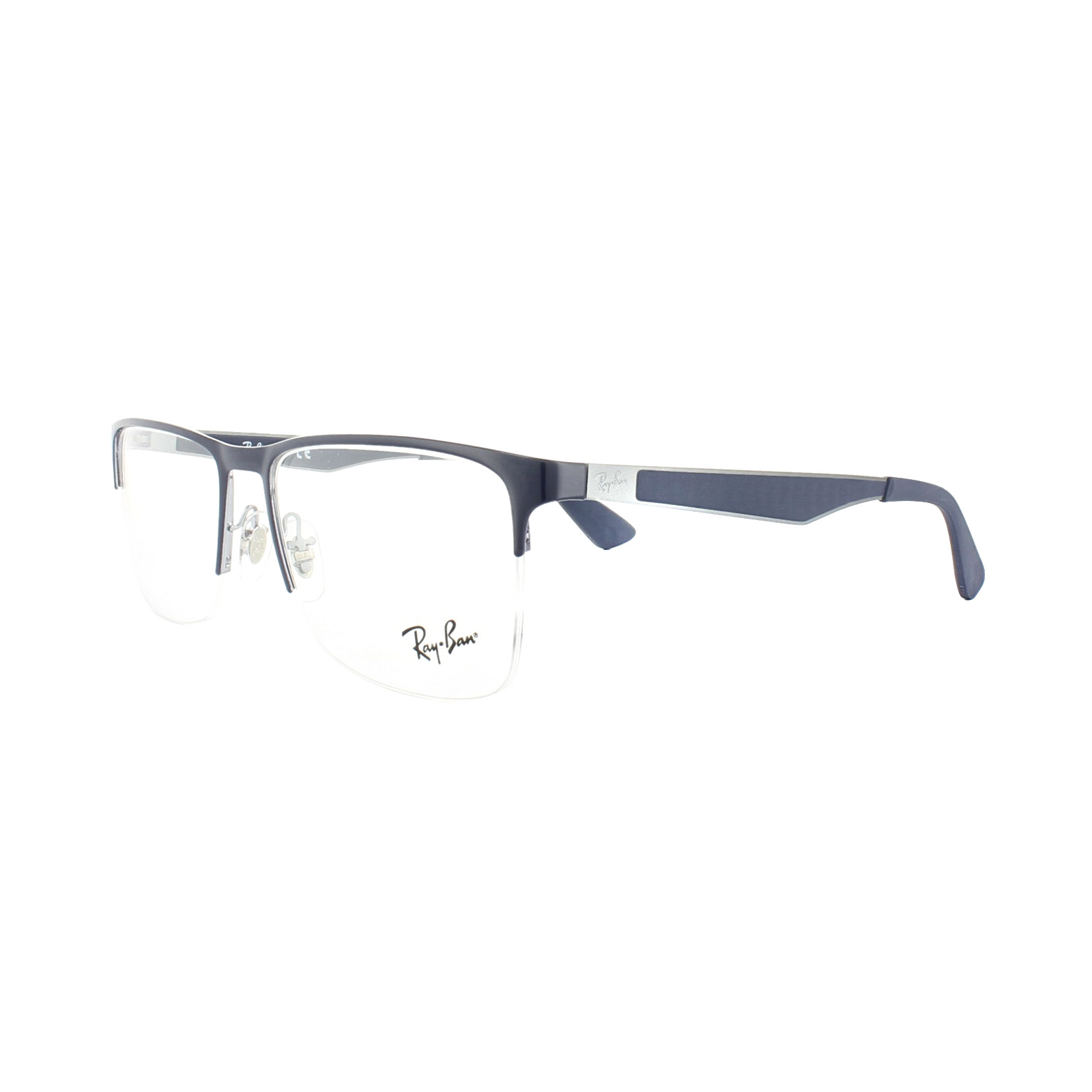 Details About Ray Ban Glasses Frames 6335 2947 Gunmetal Top Blue Mens 56mm