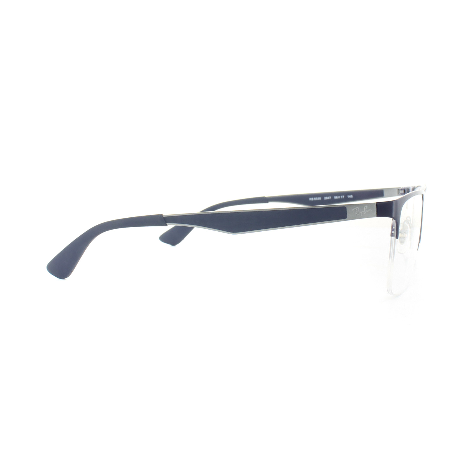 7b4c9e605bbd ... czech sentinel ray ban glasses frames 6335 2947 gunmetal top blue mens  56mm 1e77b f0695