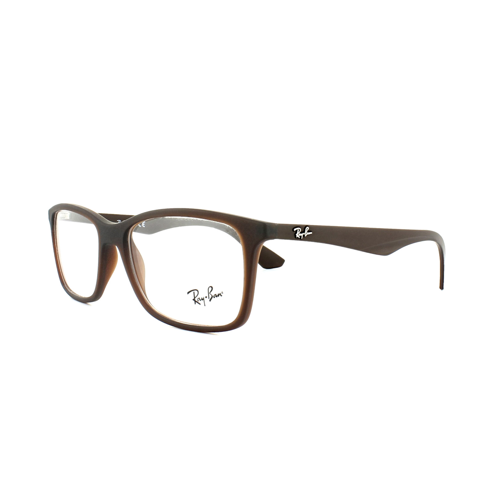 Ray-Ban Glasses Frames 7047 5451 Matt Transparent Brown Mens 56mm   eBay