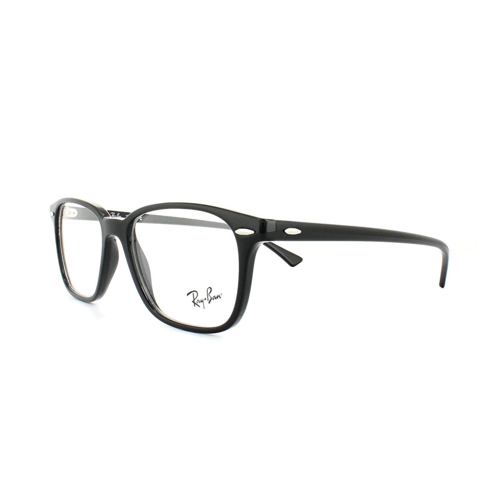 97b30cd451 Sentinel Ray-Ban Glasses Frames 7119 2000 Black Mens Womens 53mm