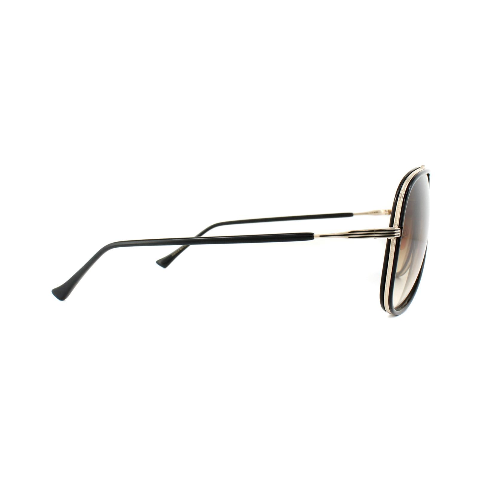 8704a03ea4e7 Sentinel Dita Sunglasses Condor Two 21010-E-62 Black 12K Gold Brown Gradient
